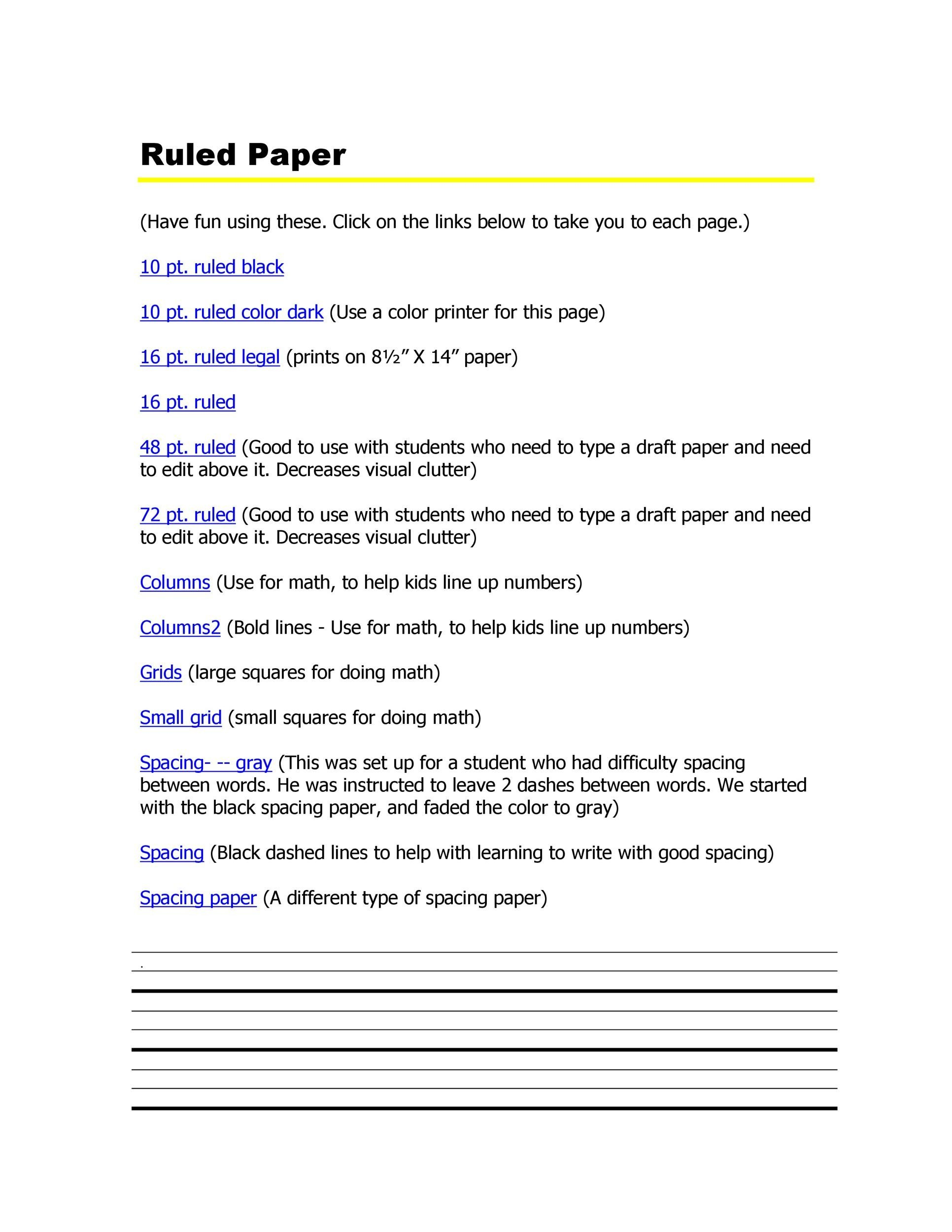 Free lined paper template 05