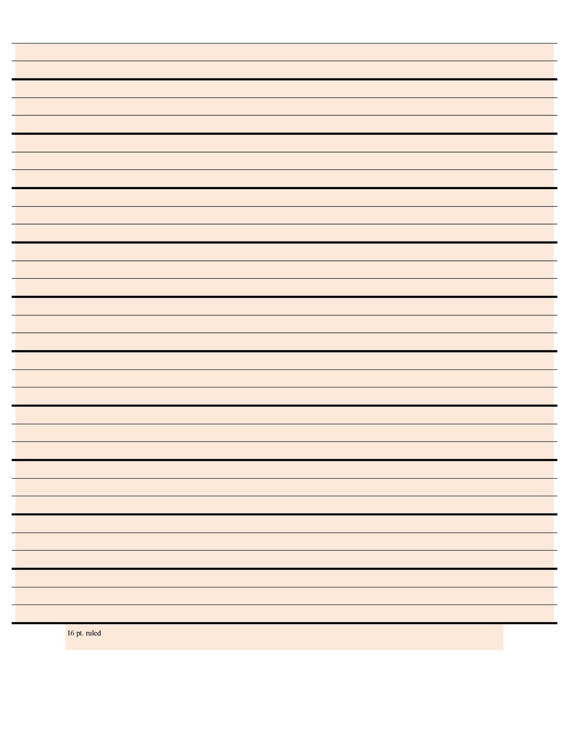 Free lined paper template 09