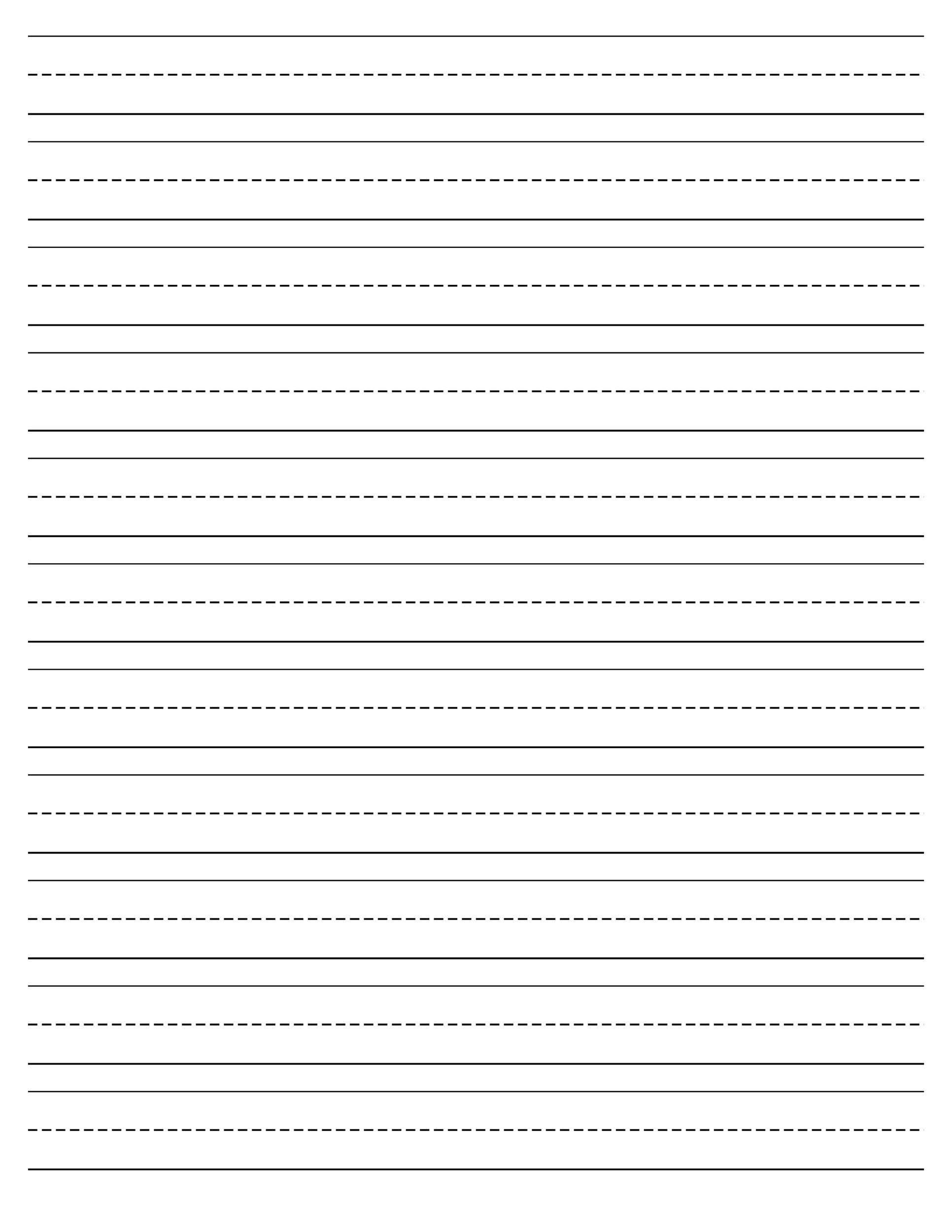 Lined Paper Writing