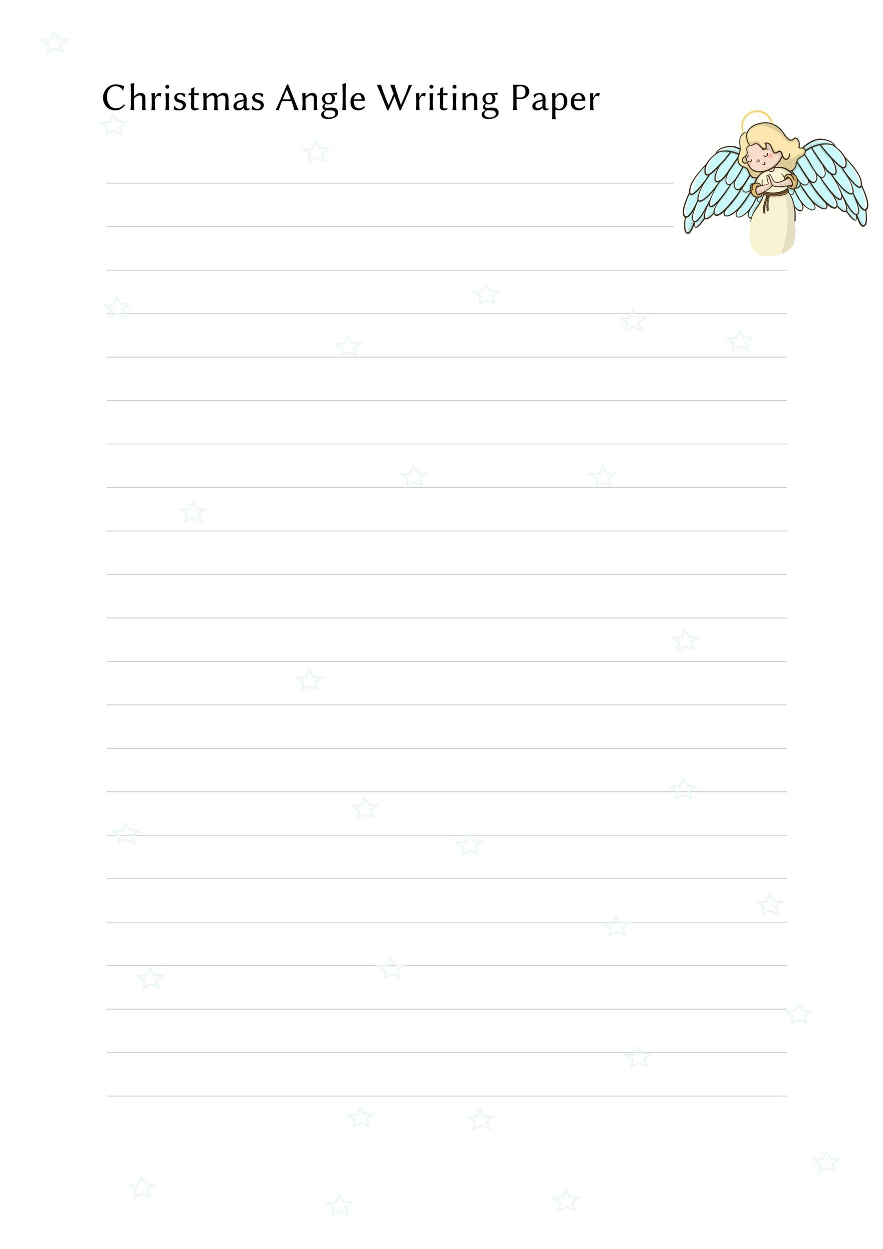 Free lined paper template 13