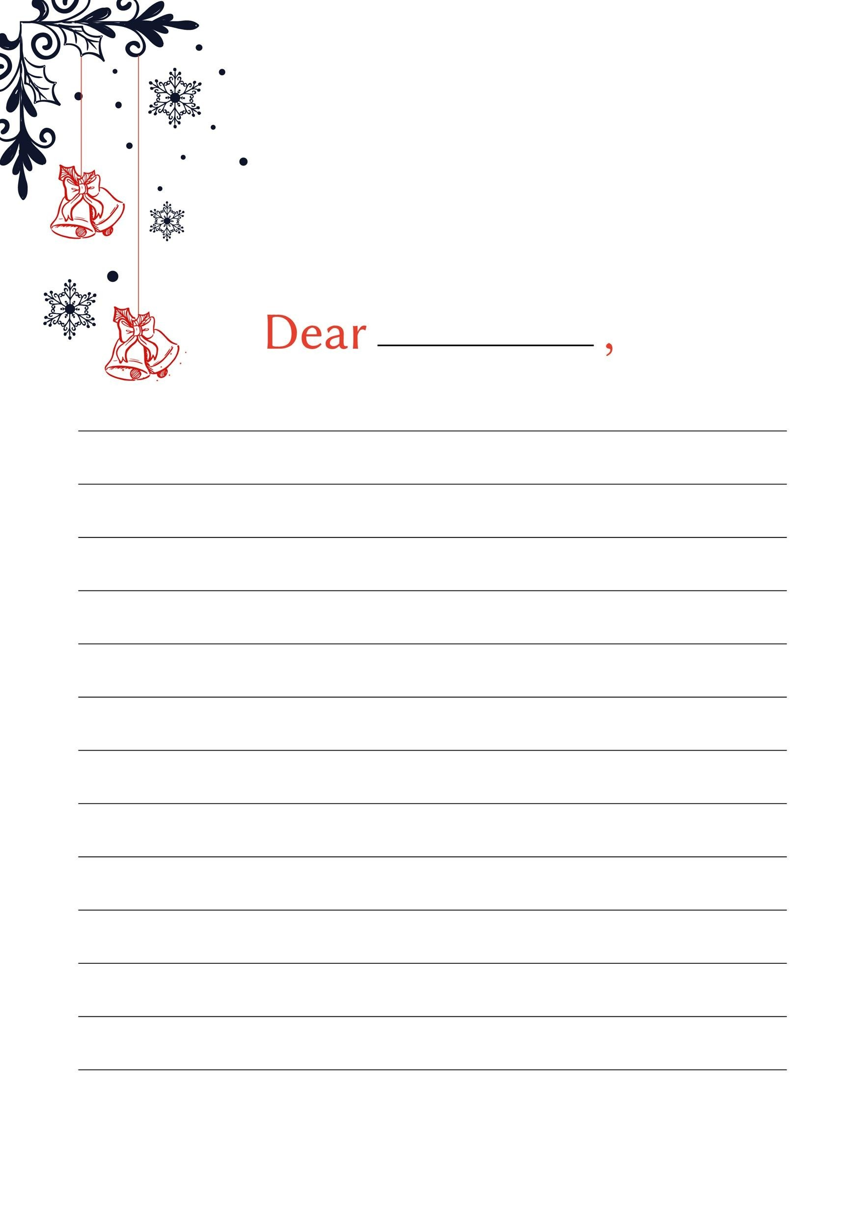 Free lined paper template 14
