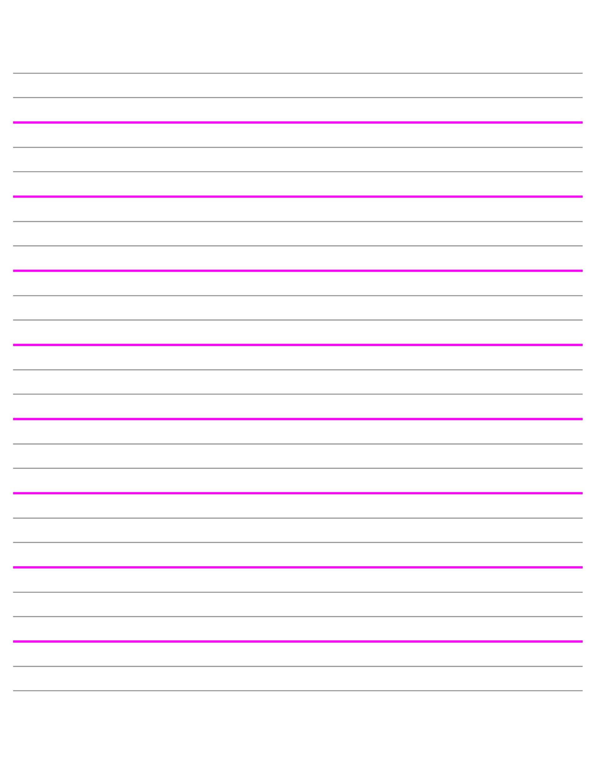 Free lined paper template 16