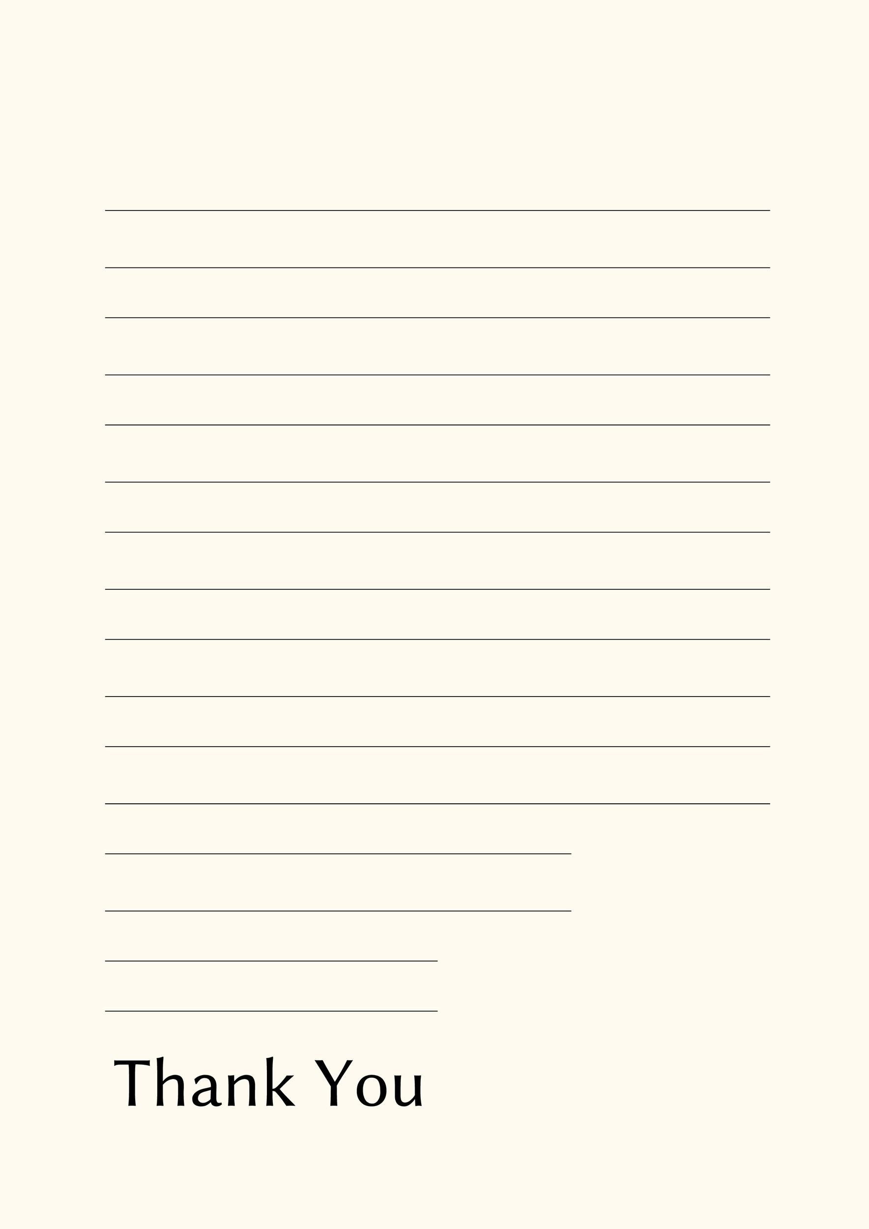 Free lined paper template 17