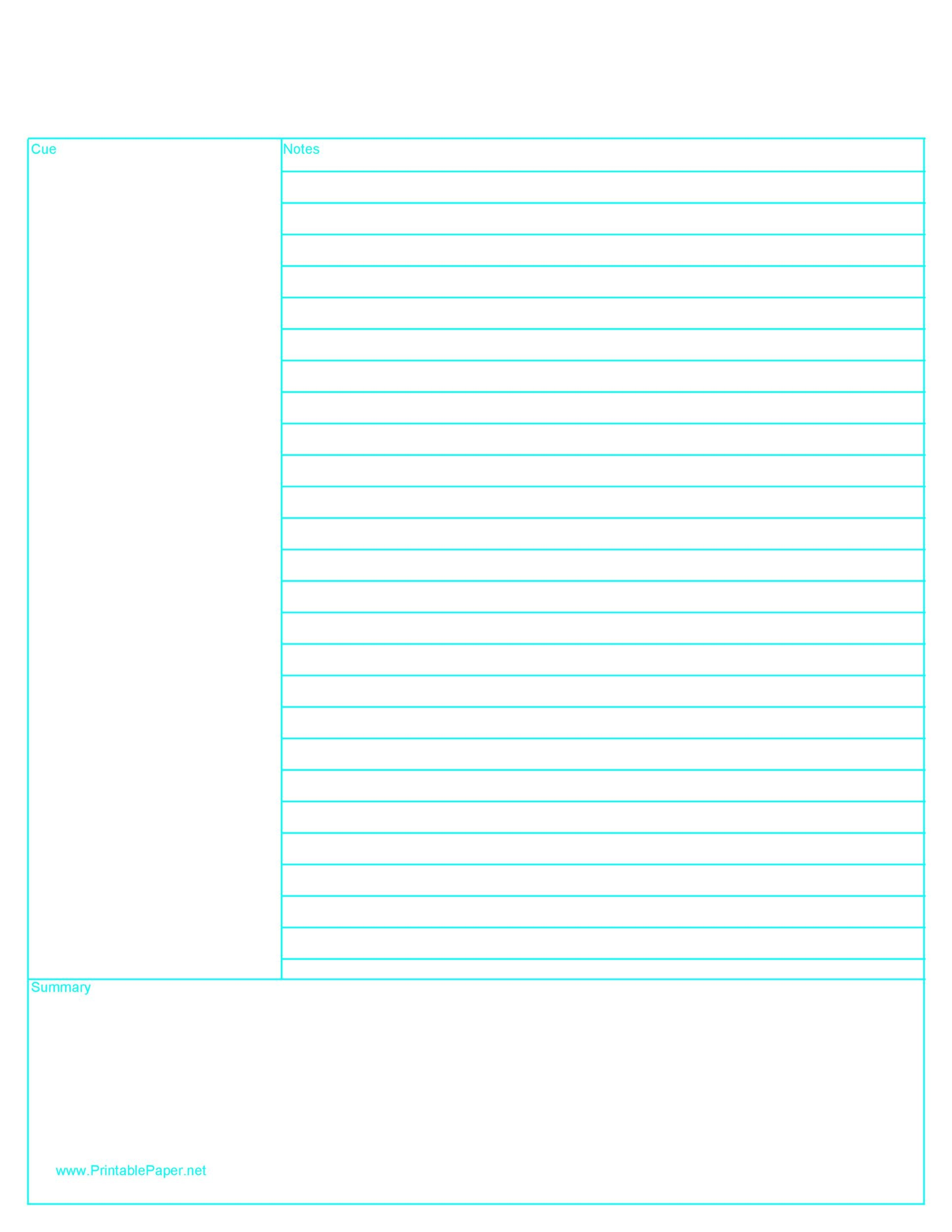 Free lined paper template 21