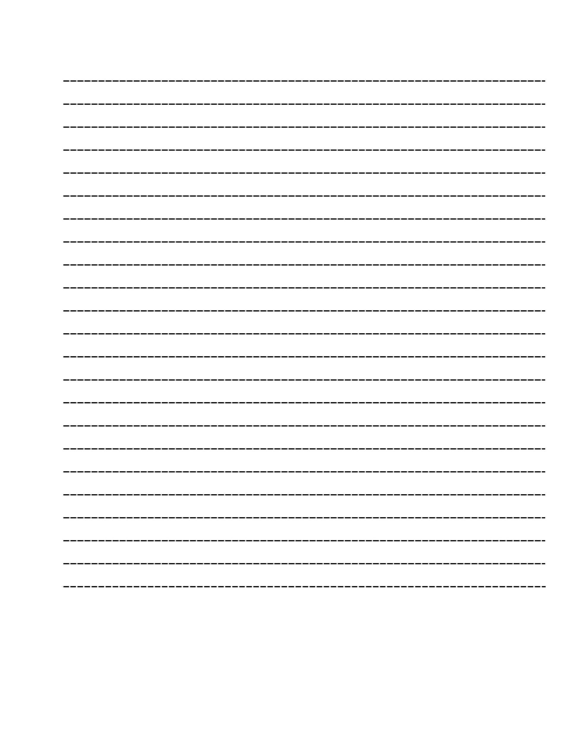 Free lined paper template 24