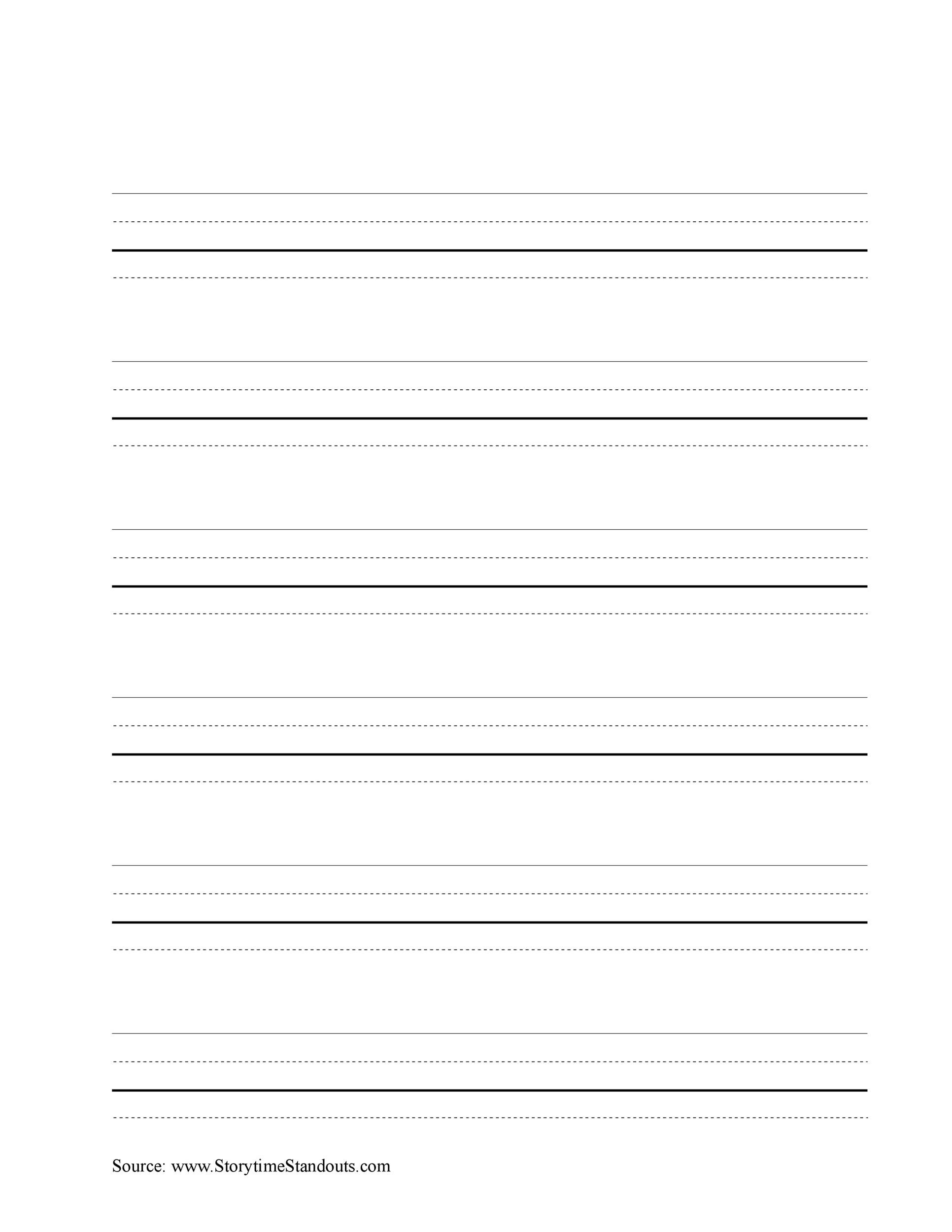 Free lined paper template 25