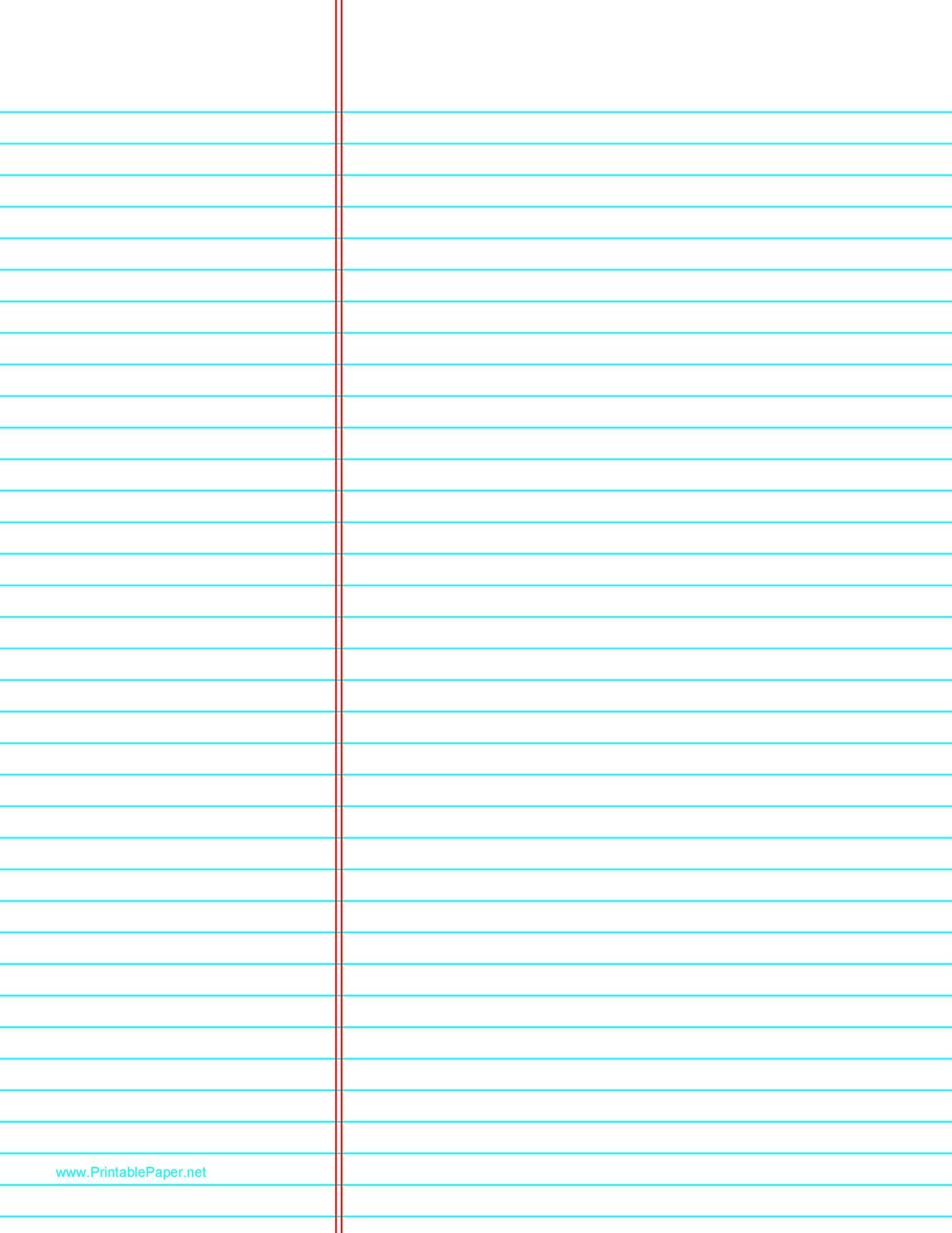Free lined paper template 26