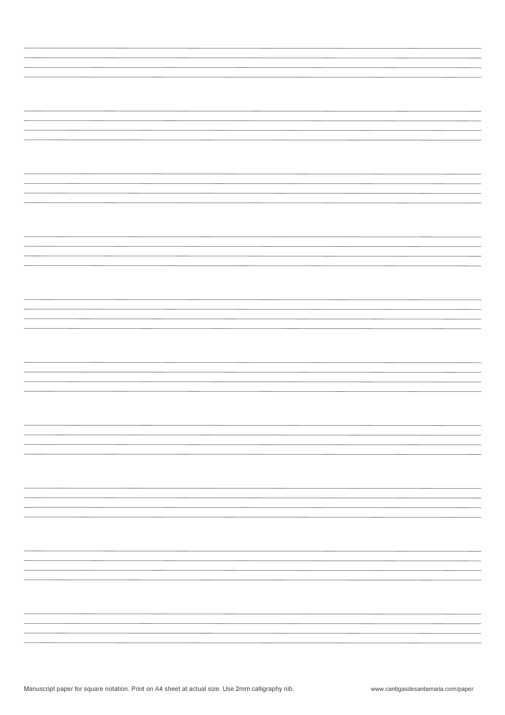 Free lined paper template 27