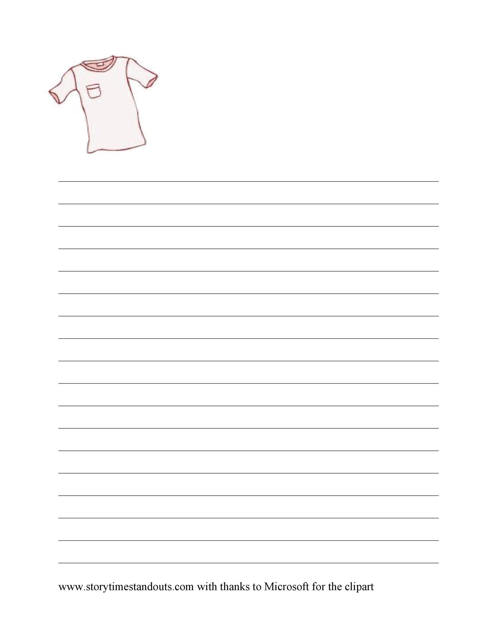 Free lined paper template 29