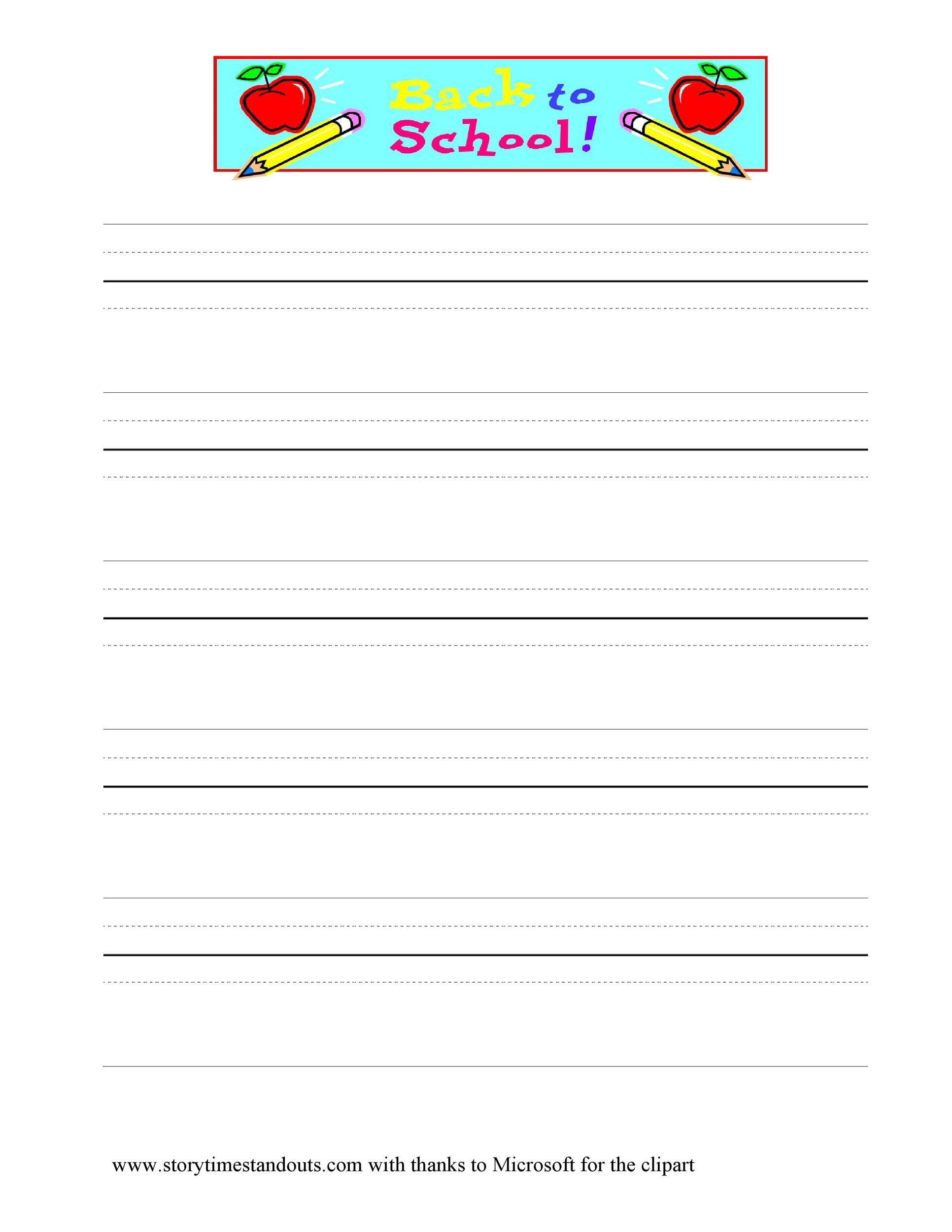 Free lined paper template 30