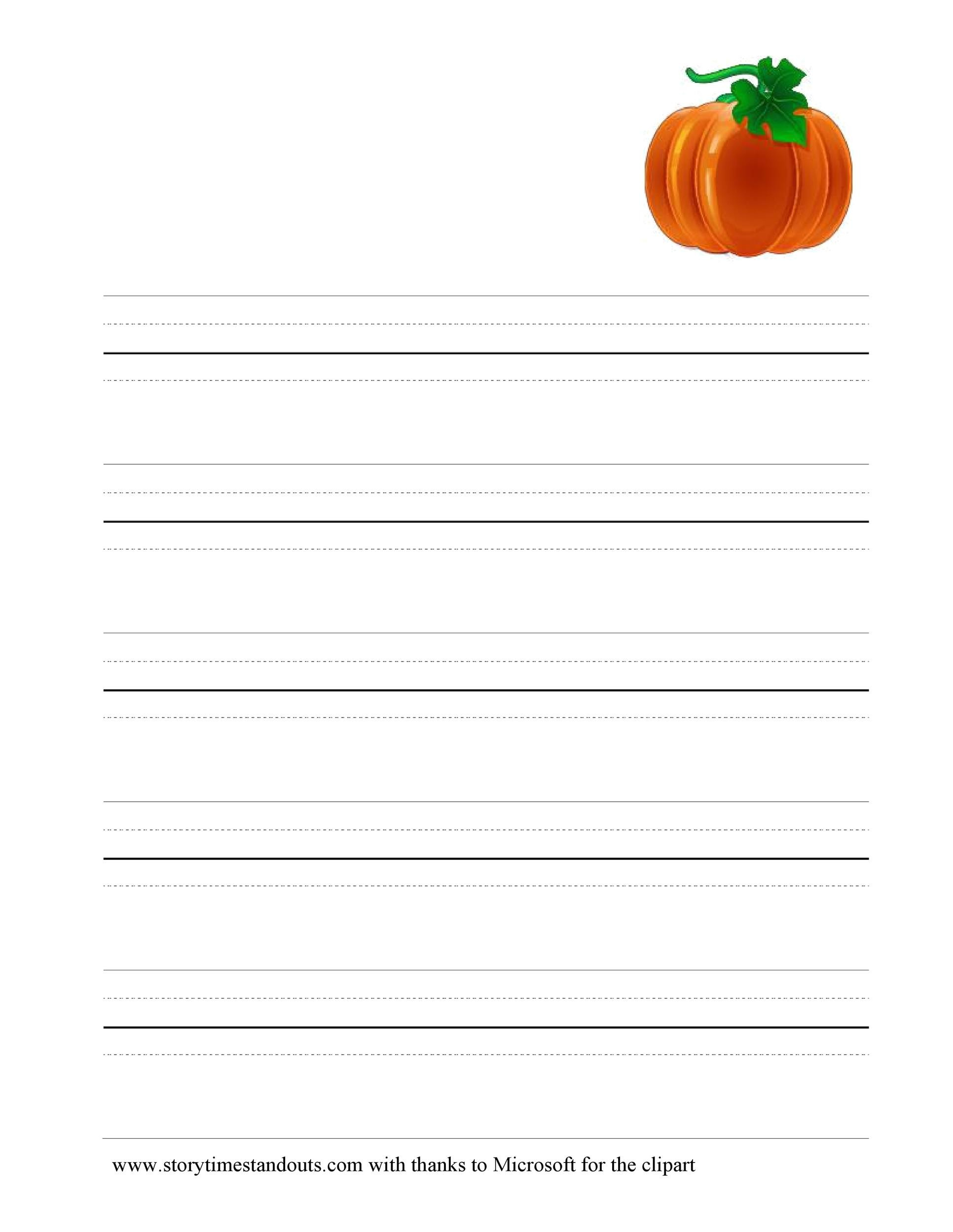Free lined paper template 31