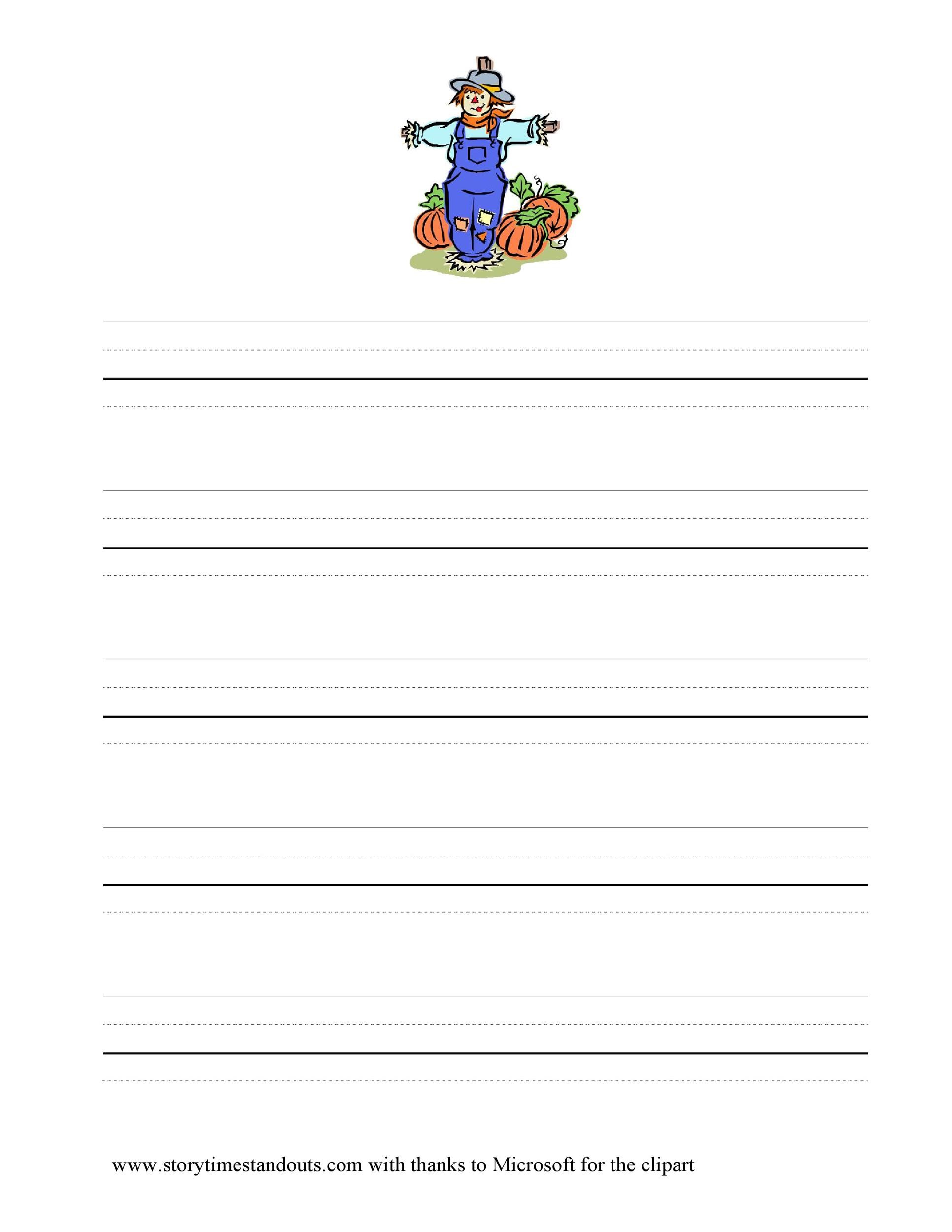 Free lined paper template 32