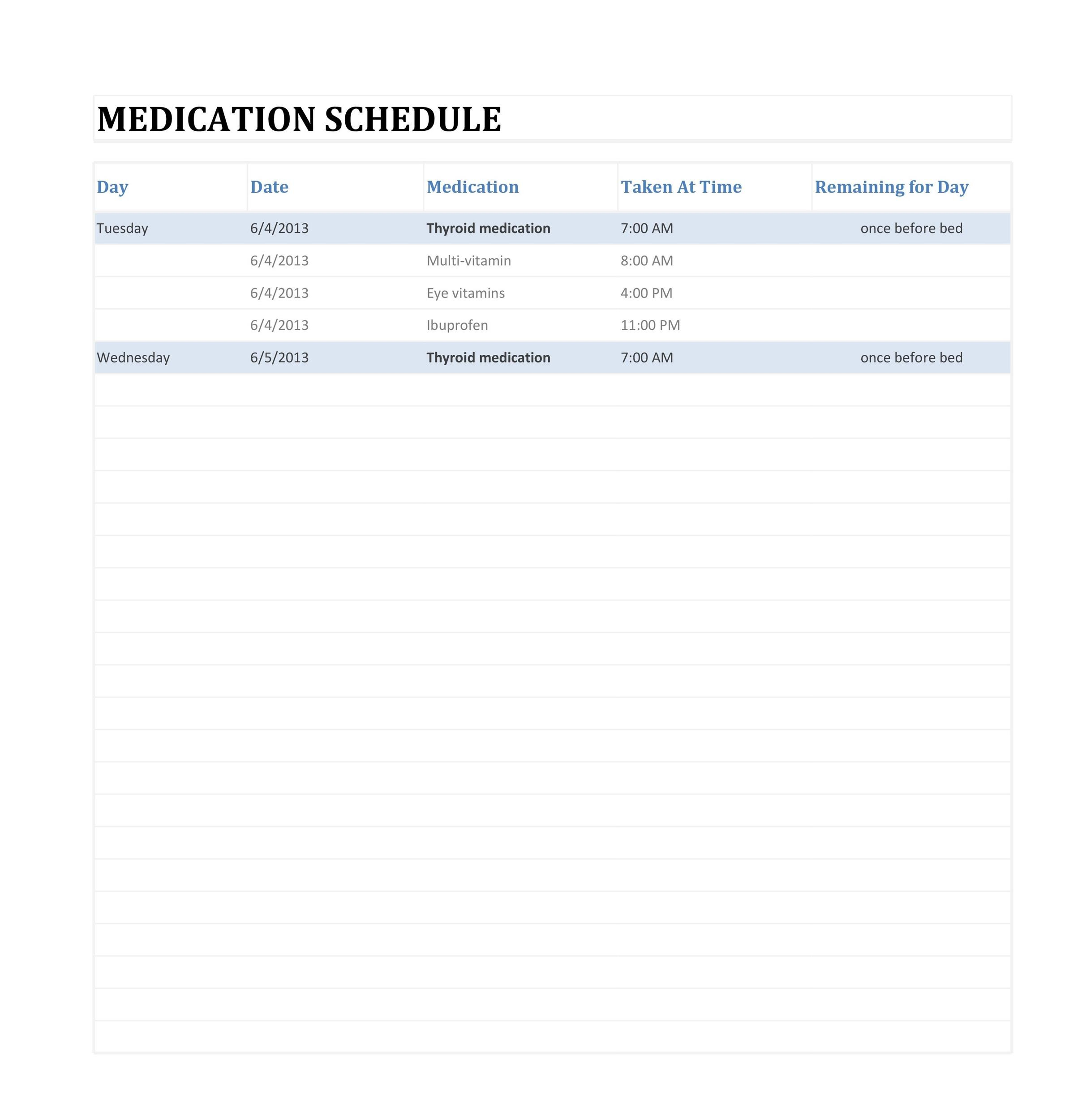 Free medication schedule template 02