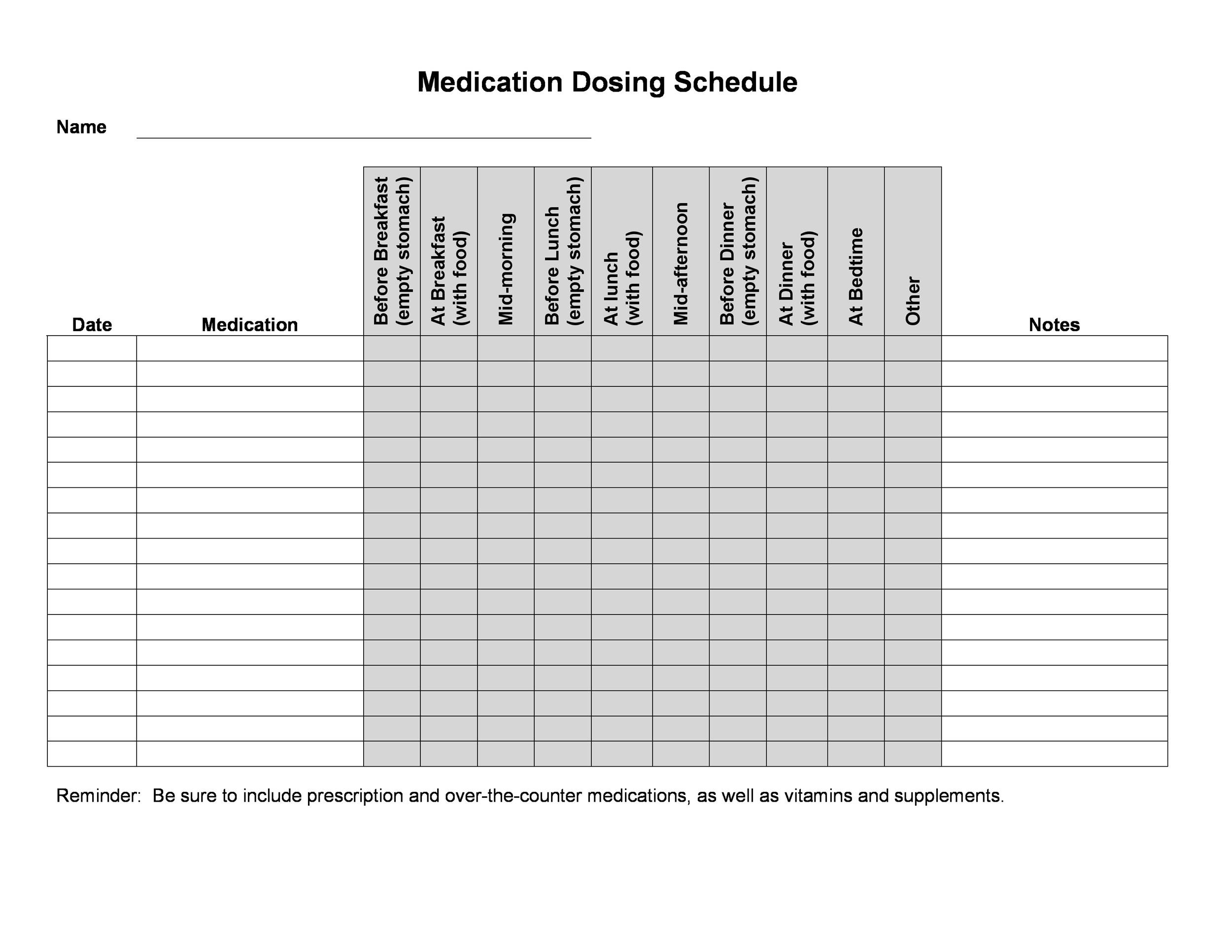 Free medication schedule template 03