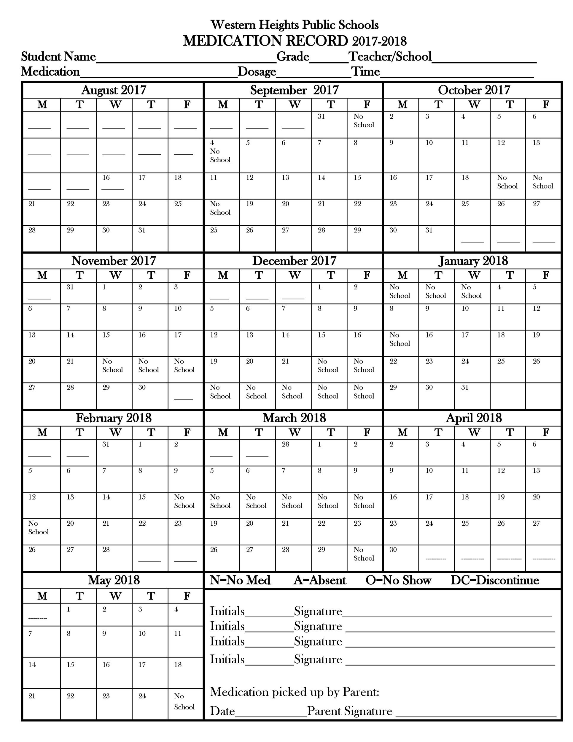 Free medication schedule template 05