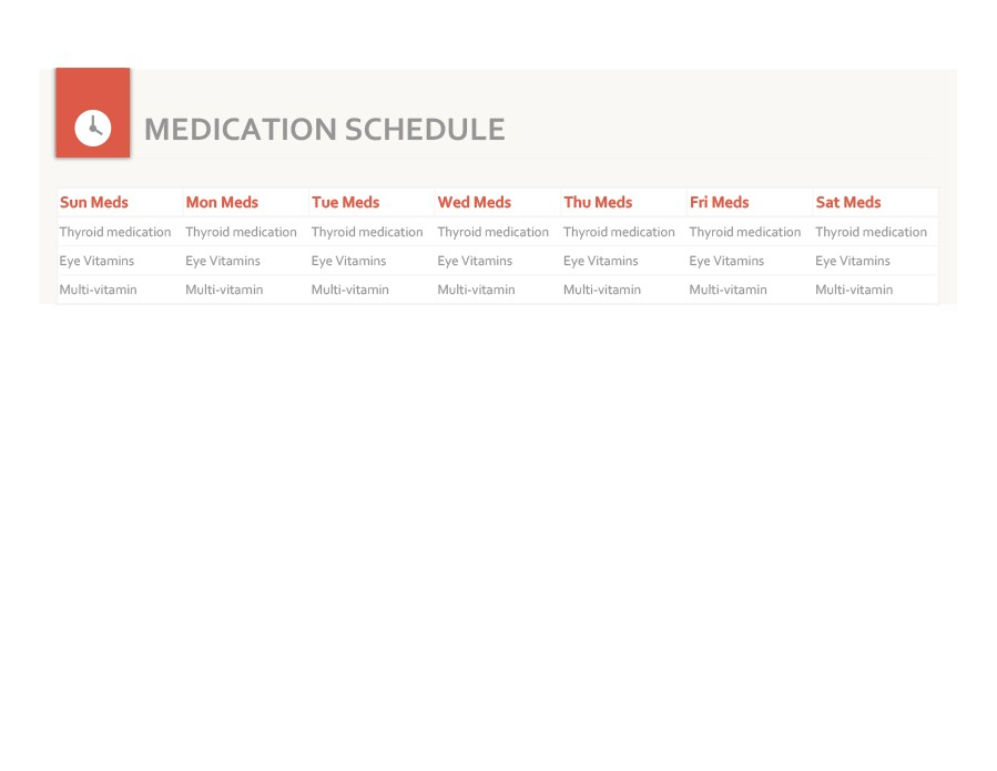 Free medication schedule template 08