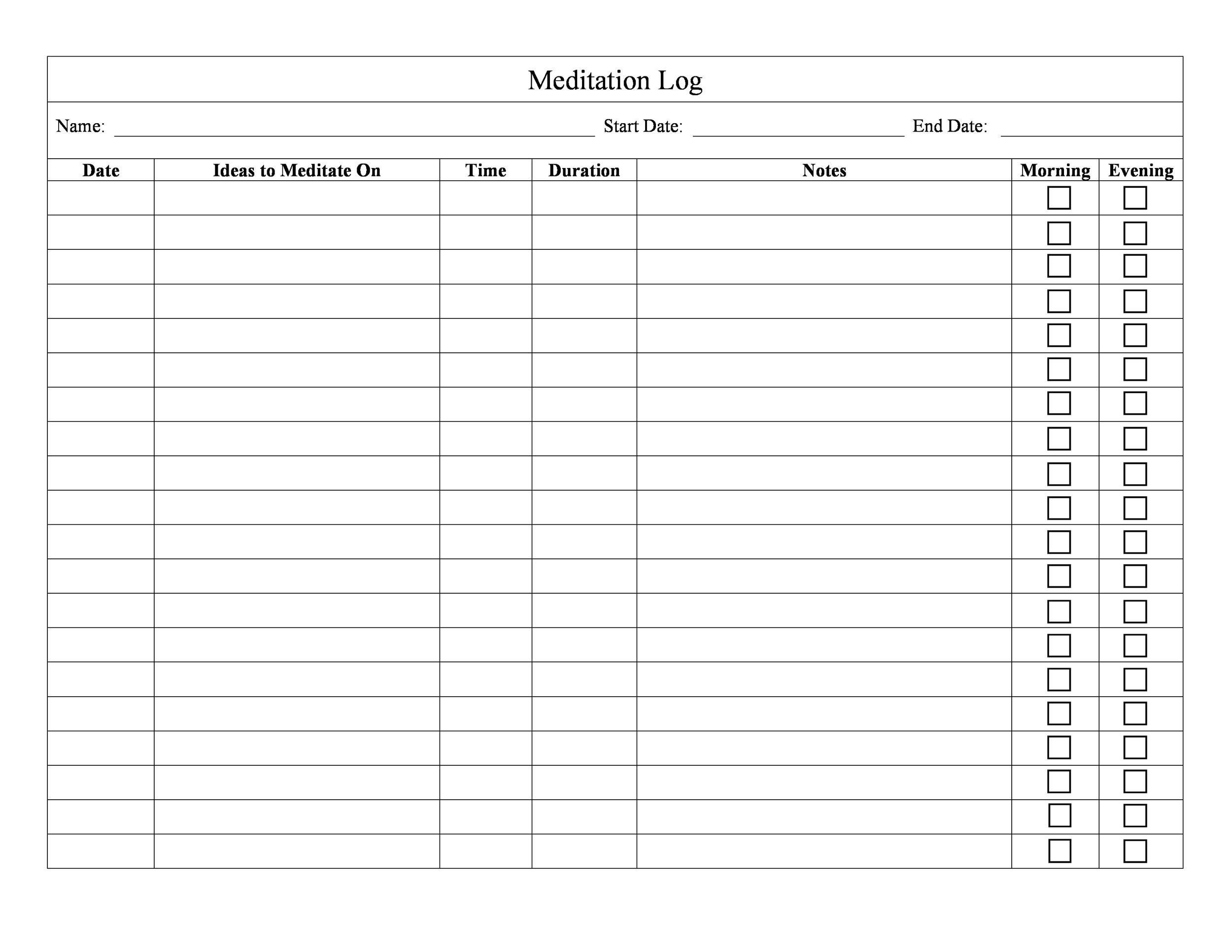 Free medication schedule template 10