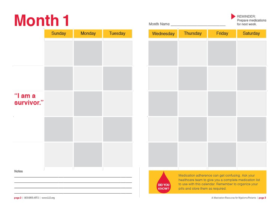 Free medication schedule template 16