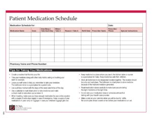 medication schedule template 28