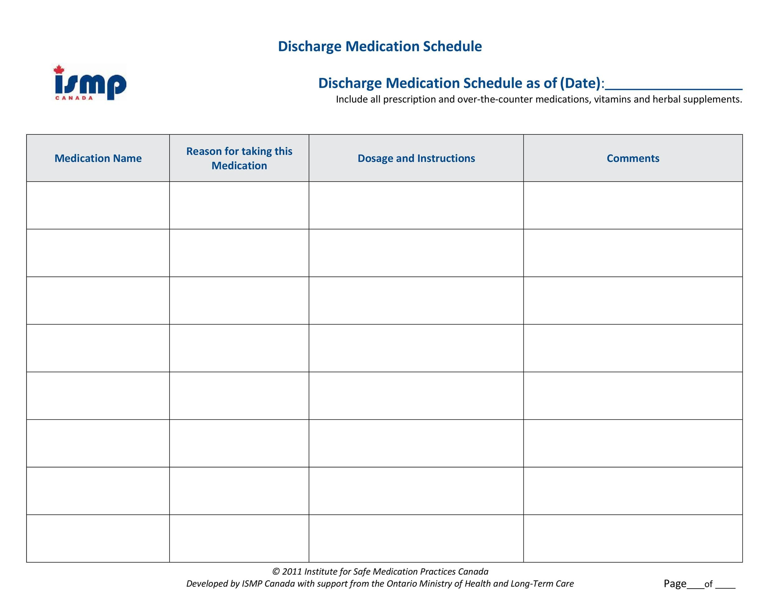 Free medication schedule template 33