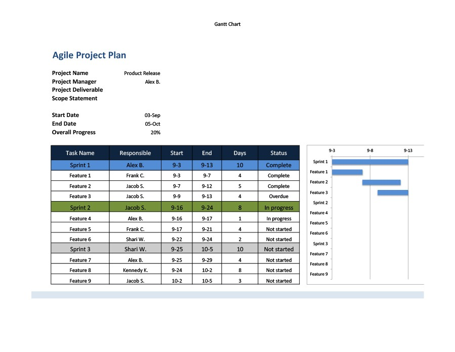 Free multiple project tracking template 01