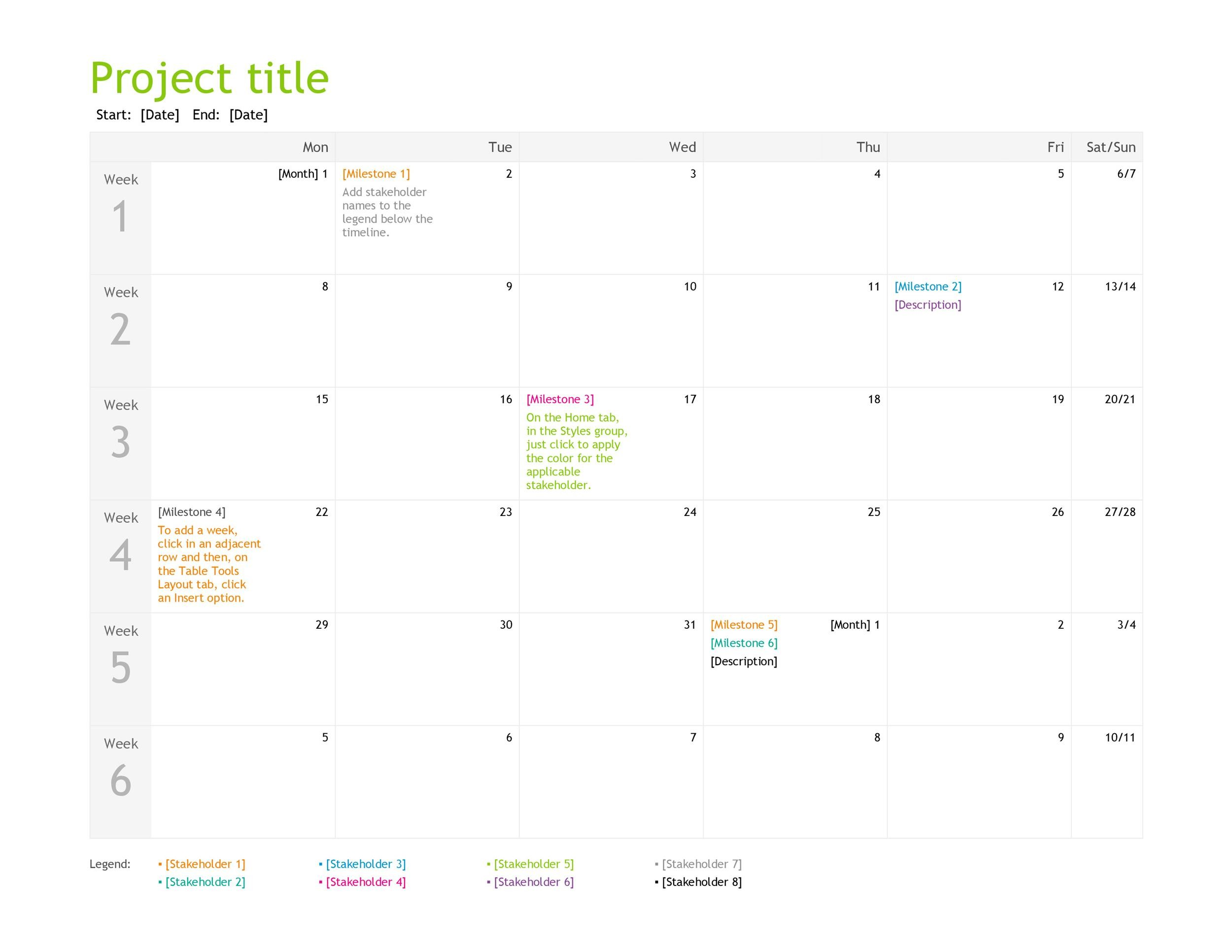 Free multiple project tracking template 27