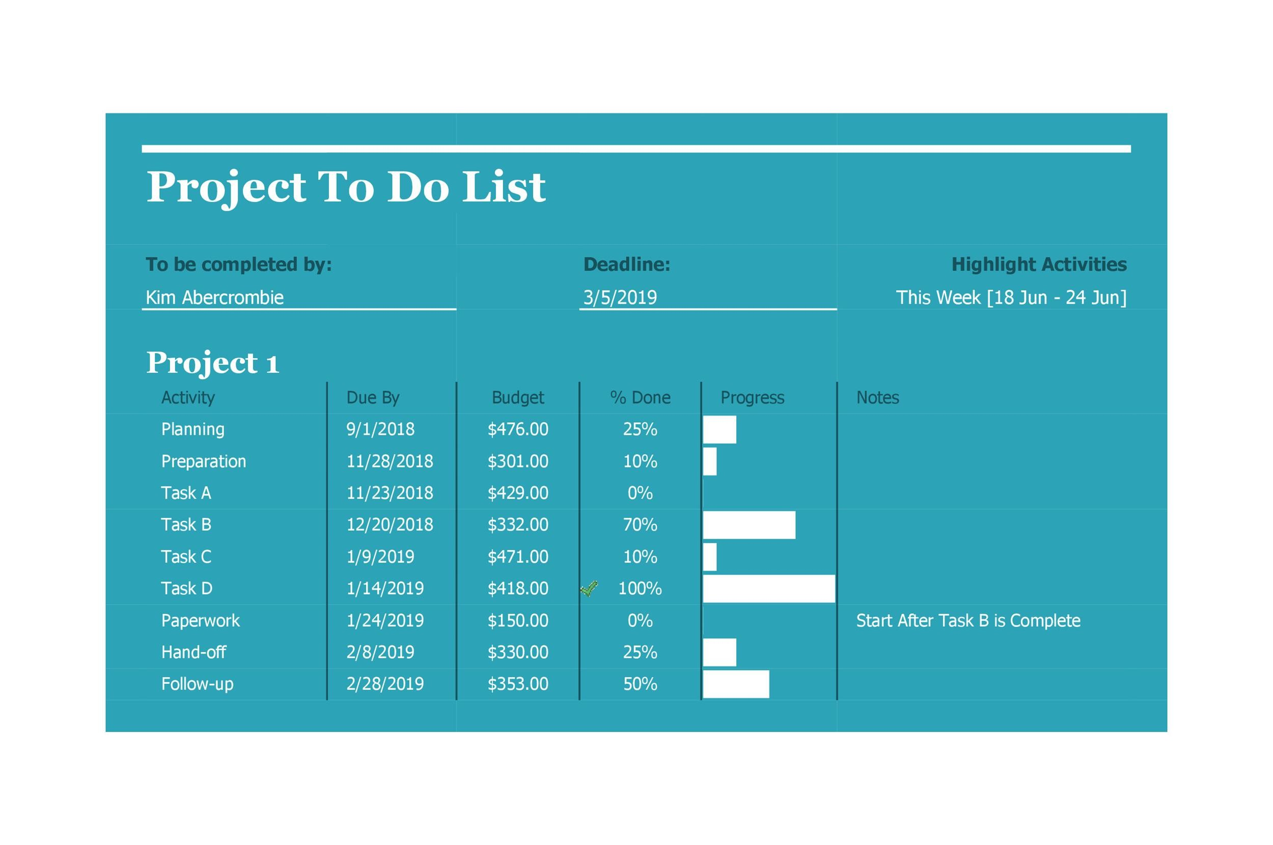 Free multiple project tracking template 32