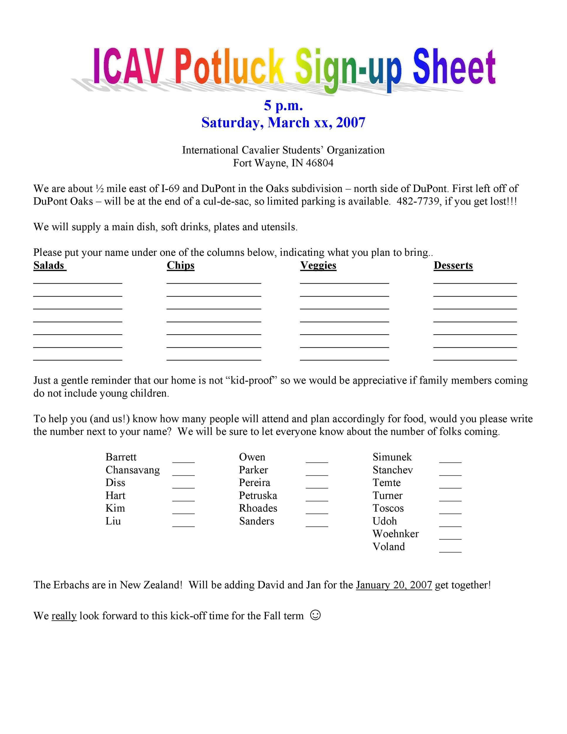 Free potluck sign up sheet 07