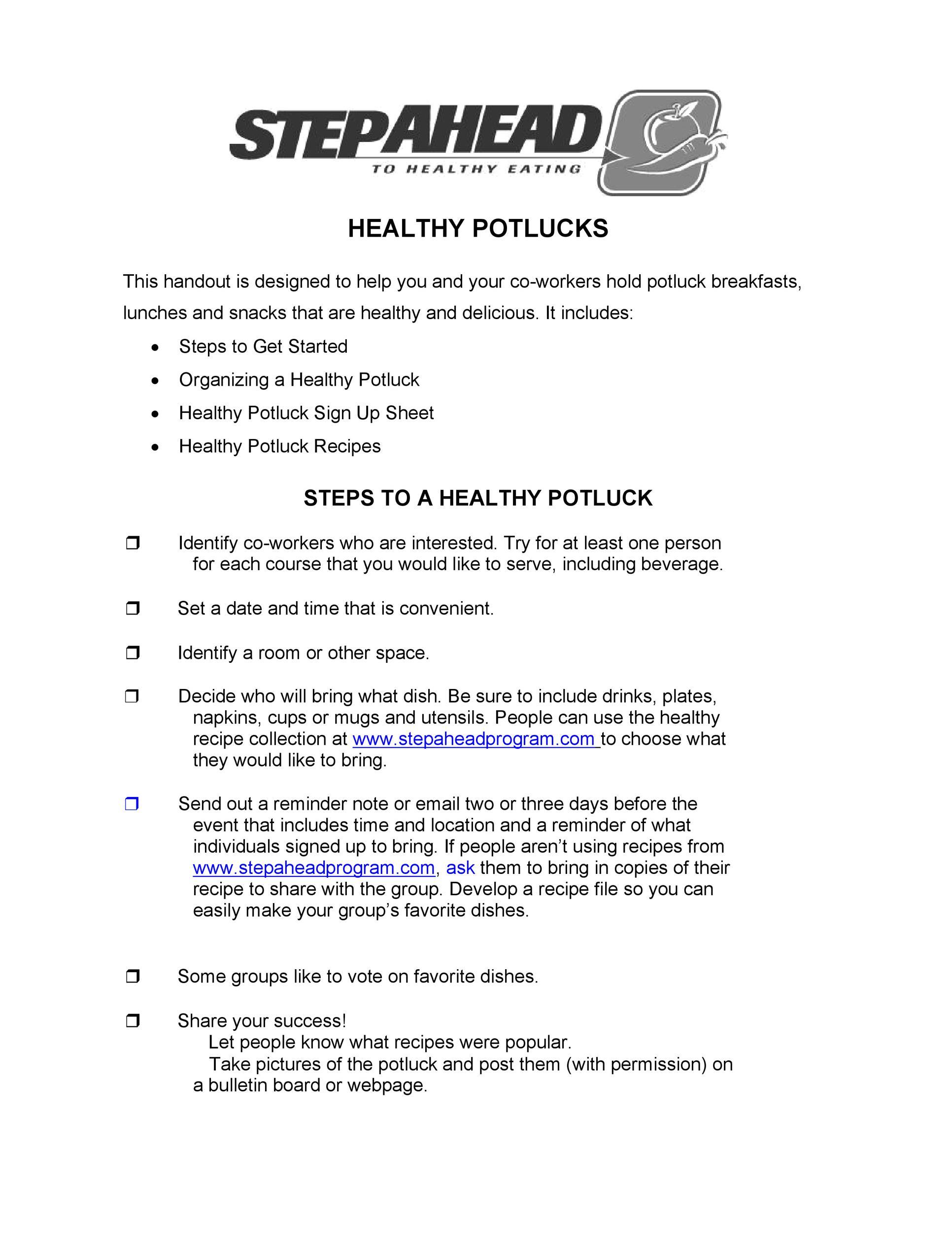 Free potluck sign up sheet 34
