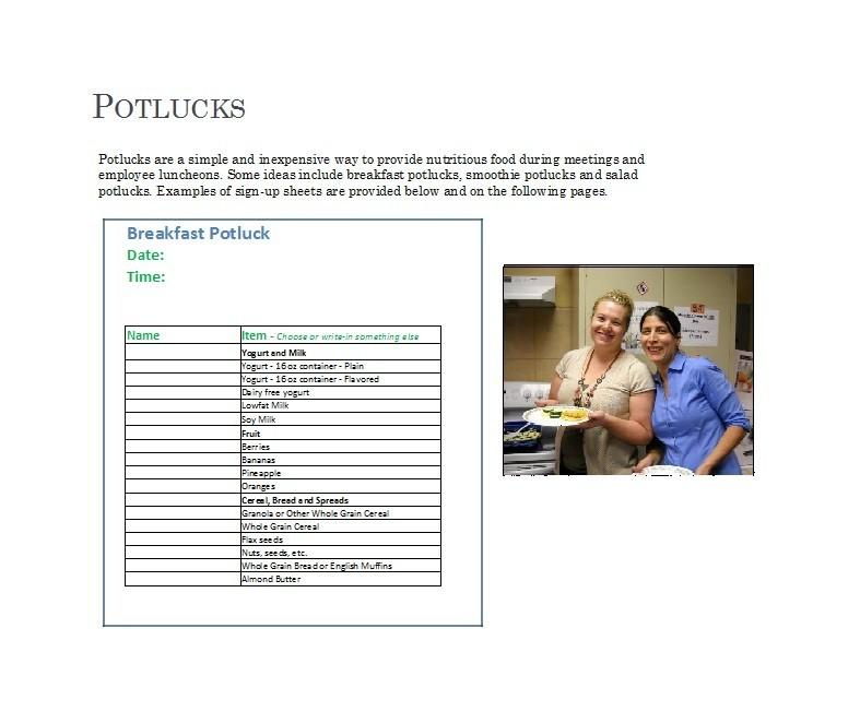 Free potluck sign up sheet 35