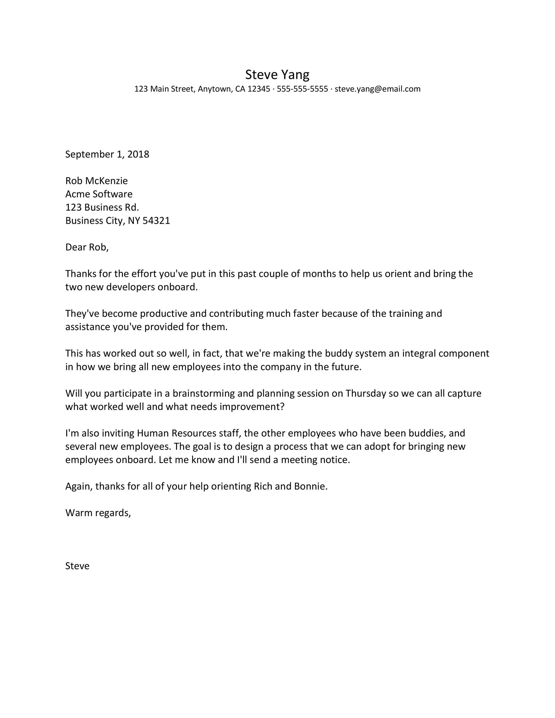 Free recognition letter 04