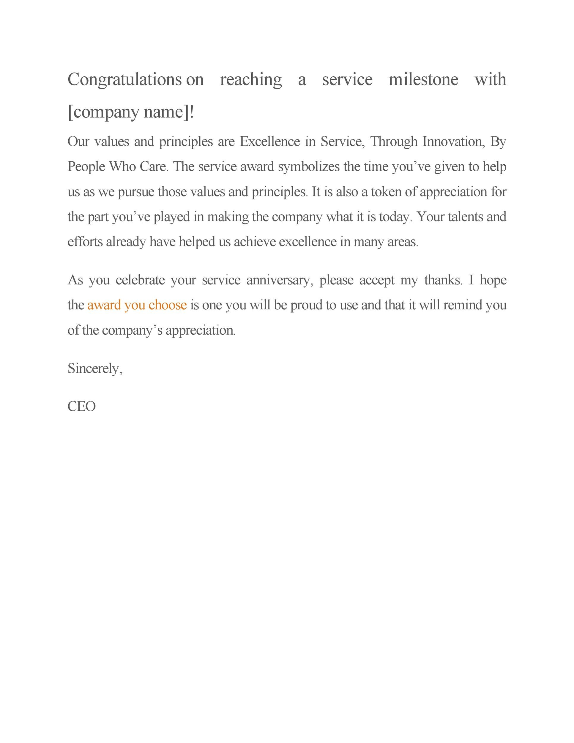 Free recognition letter 10
