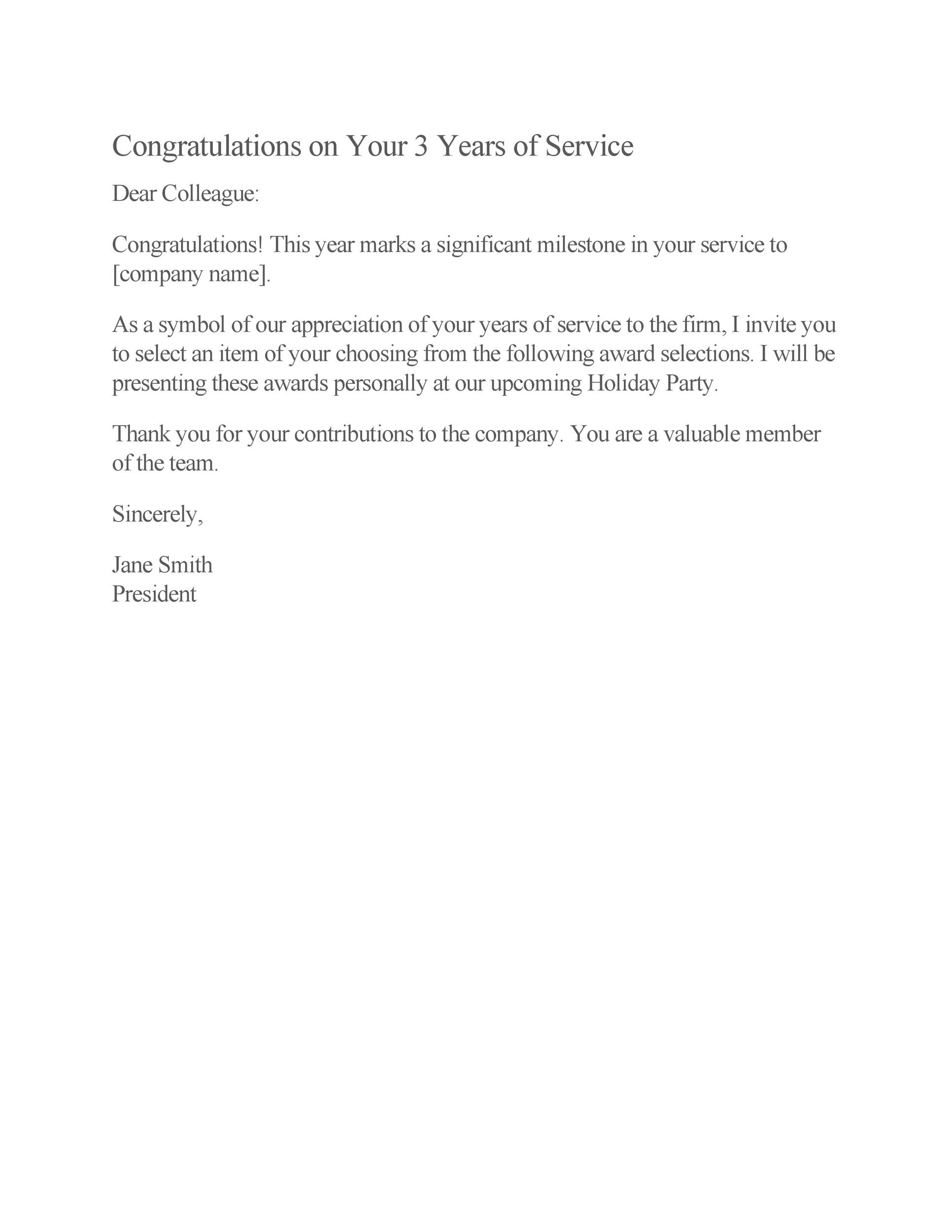 Free recognition letter 11