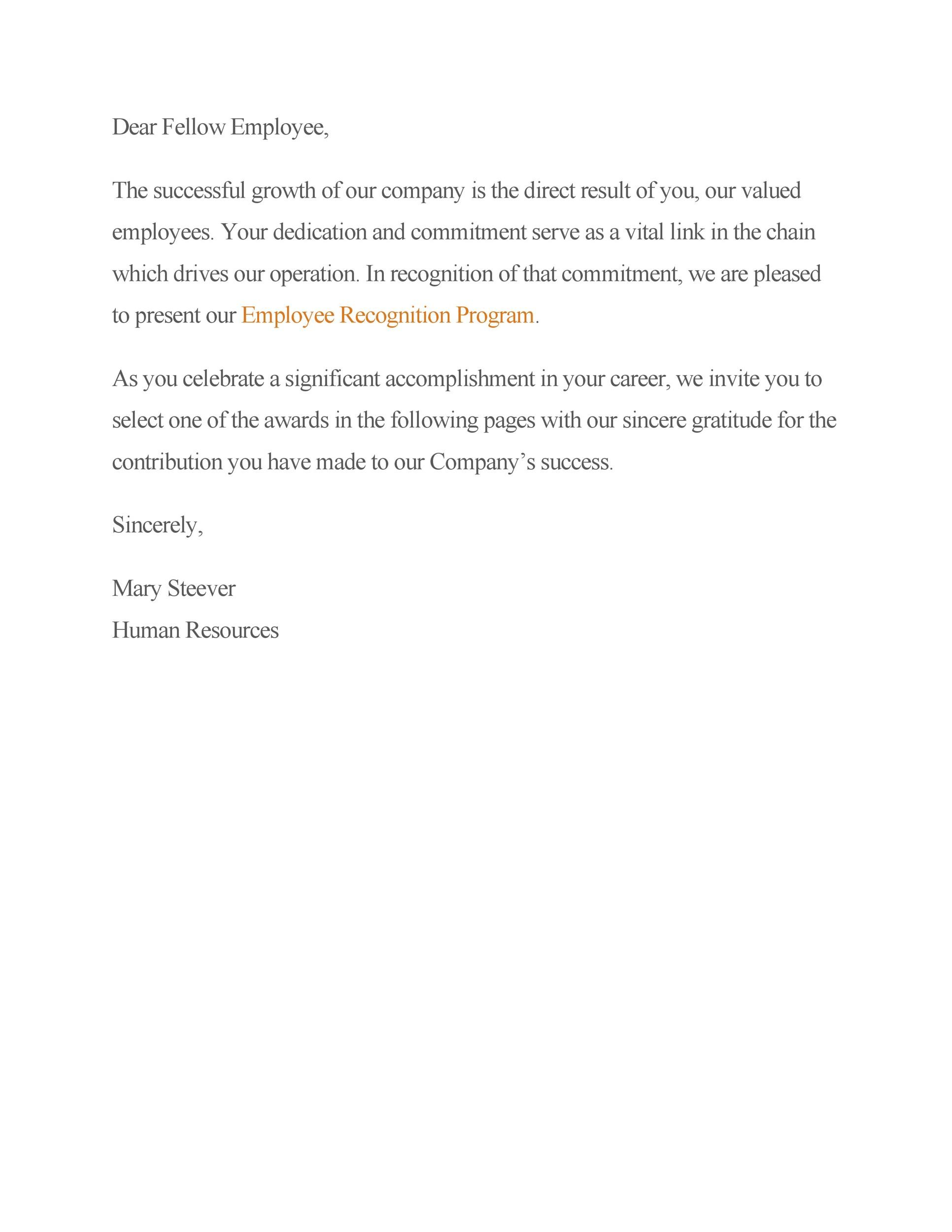Free recognition letter 15