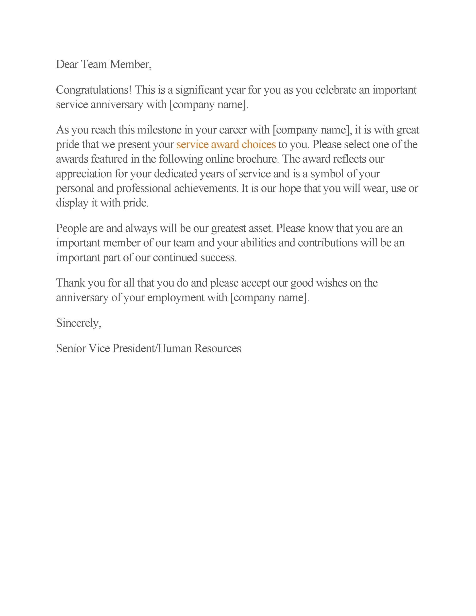Free recognition letter 17