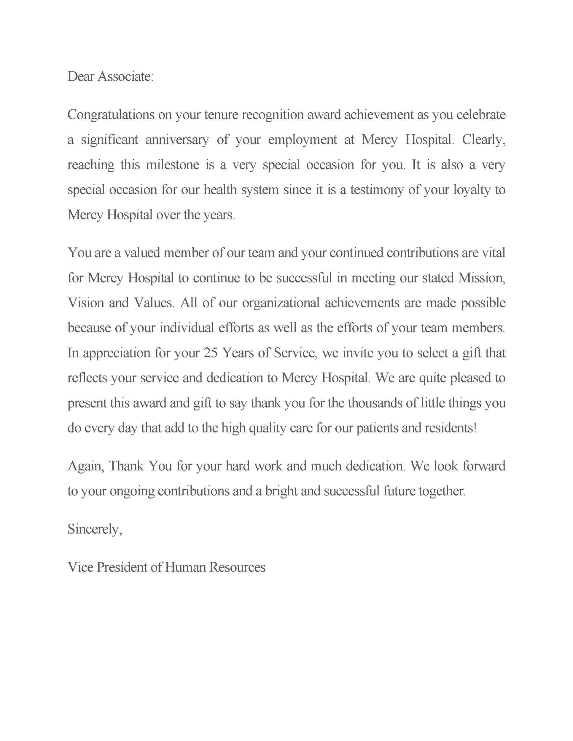 Free recognition letter 18