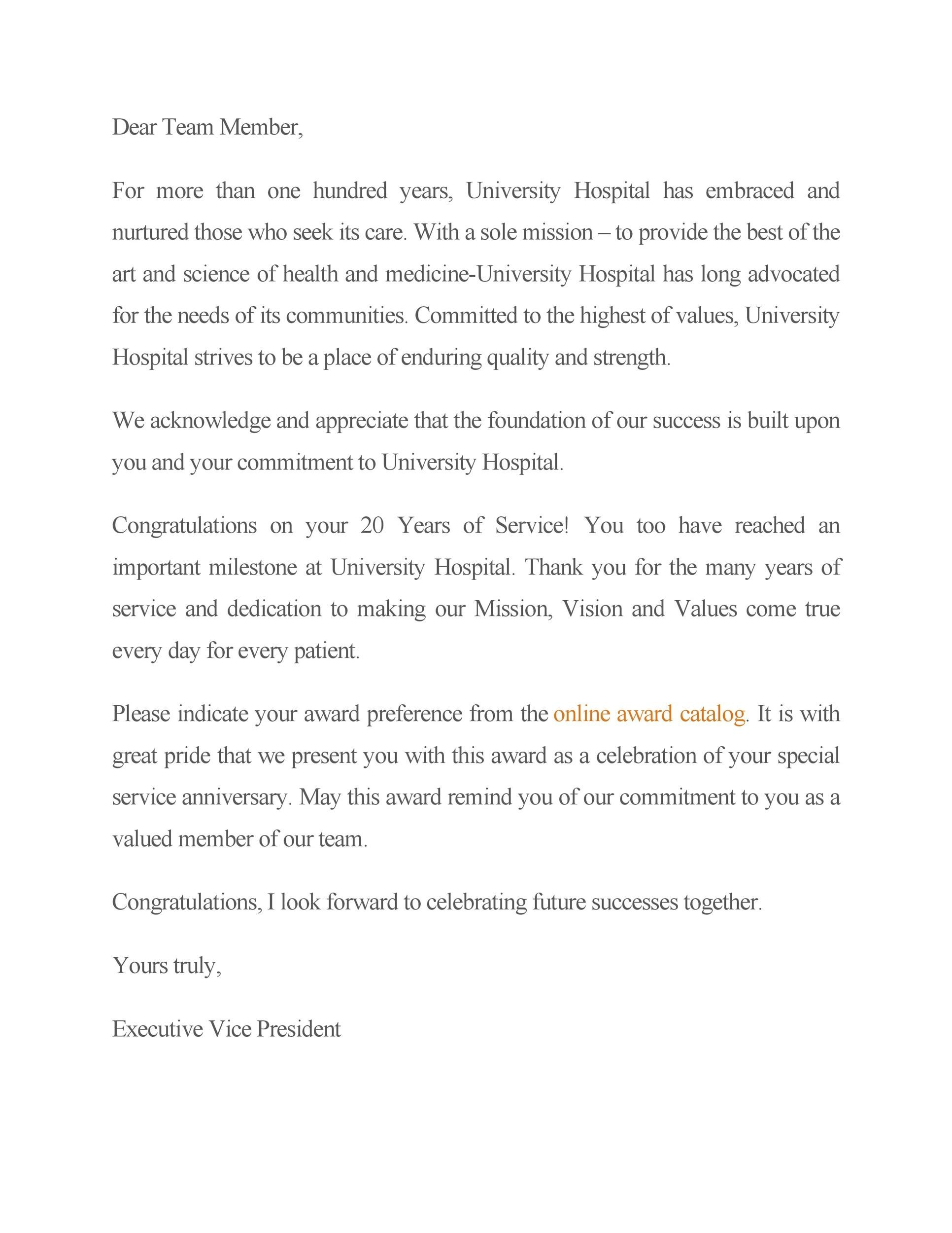 Free recognition letter 19