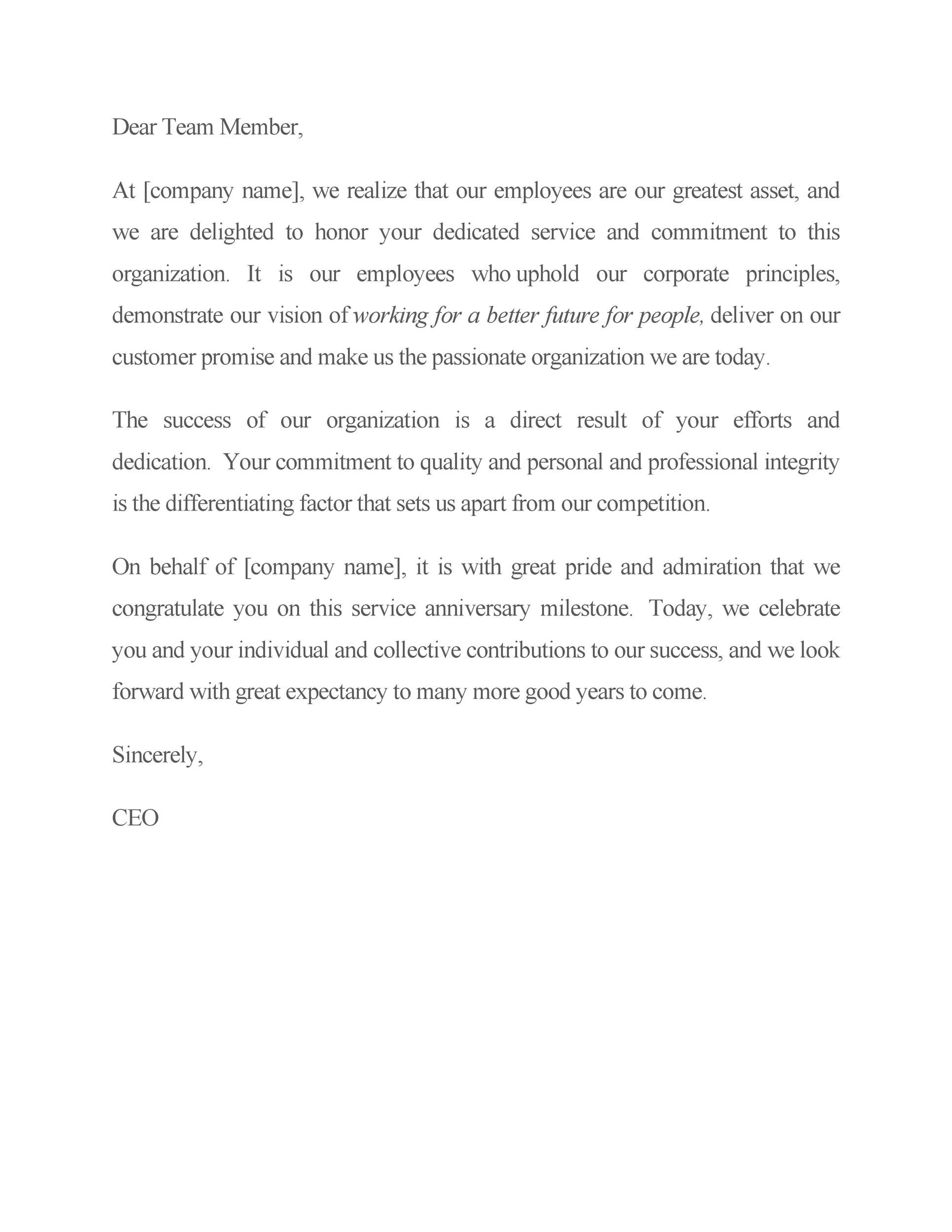 Free recognition letter 20