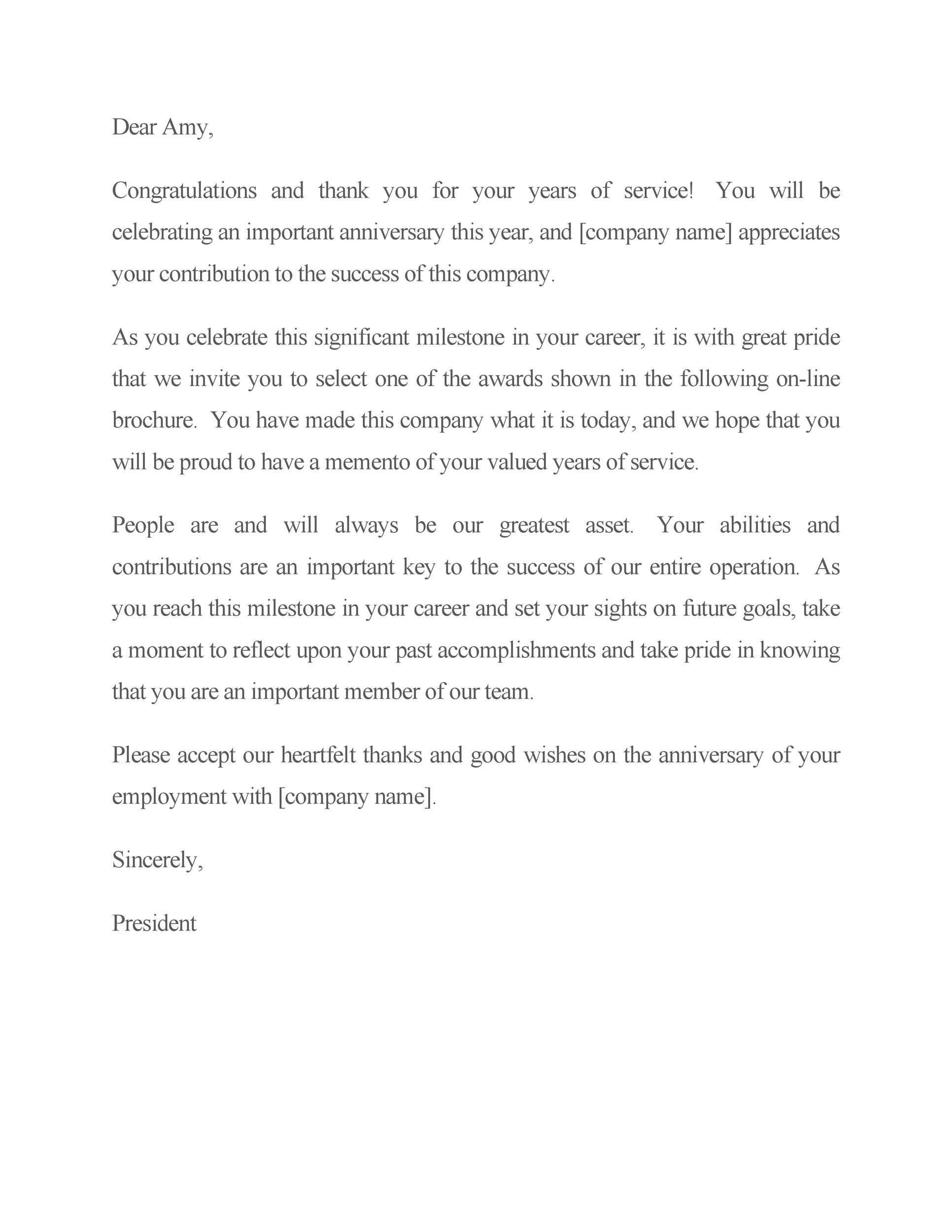 Free recognition letter 21