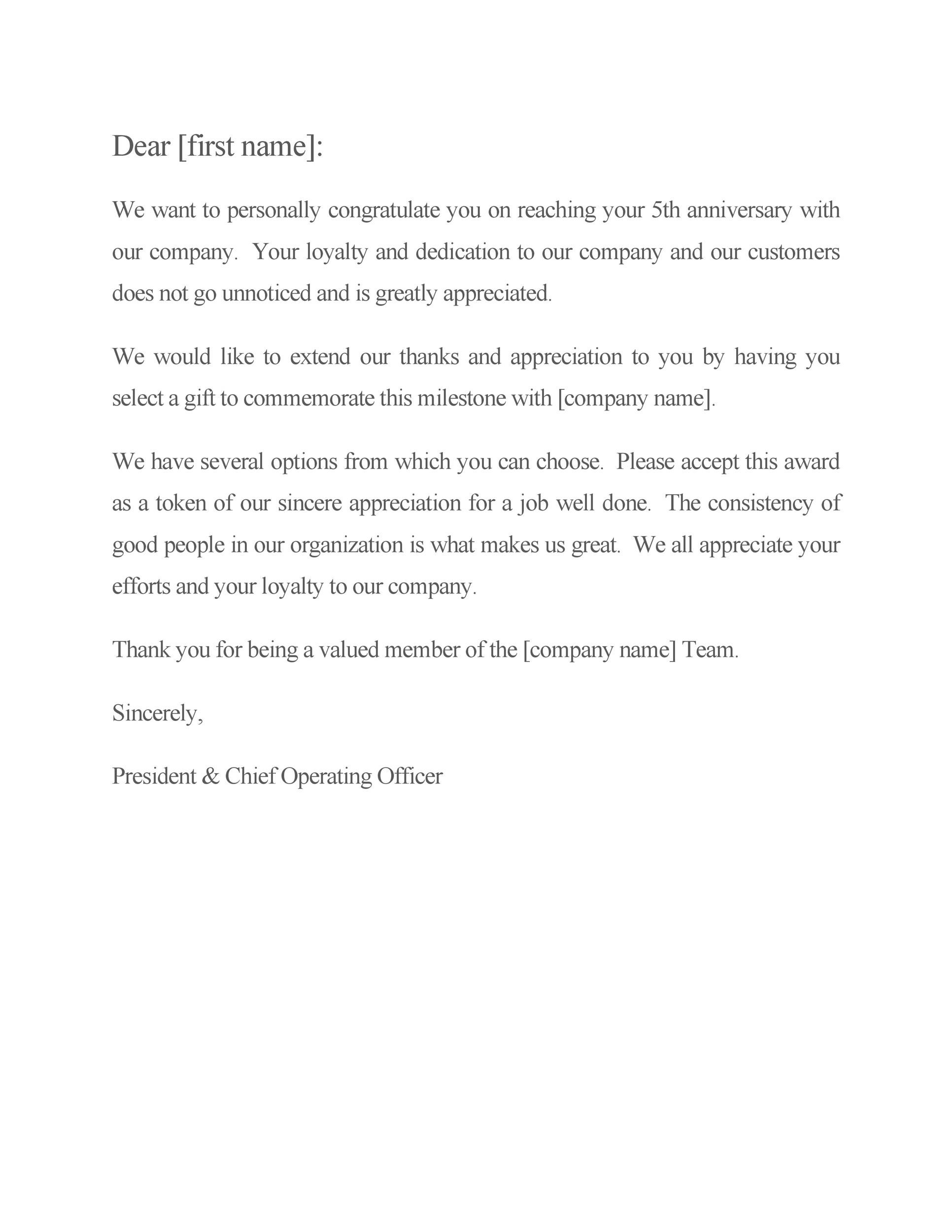 Free recognition letter 22