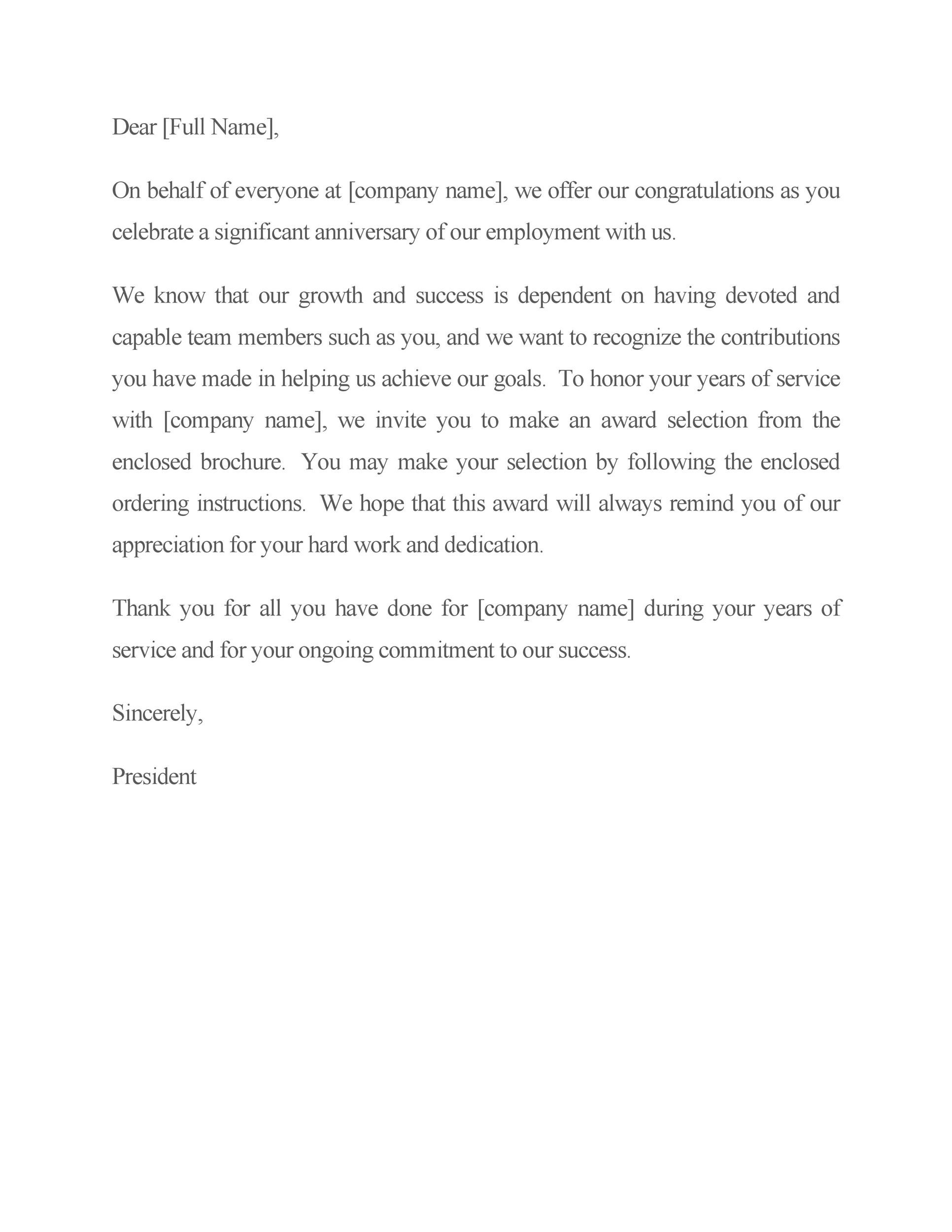 Free recognition letter 23