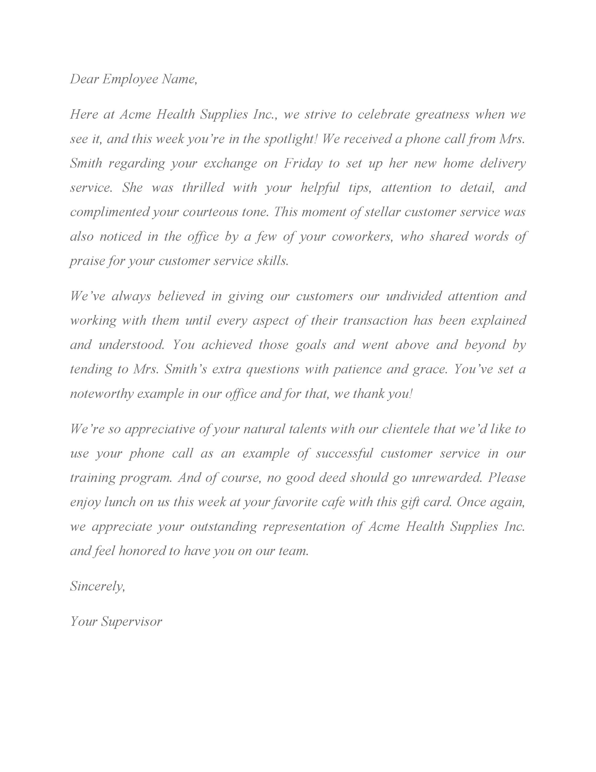 Free recognition letter 28