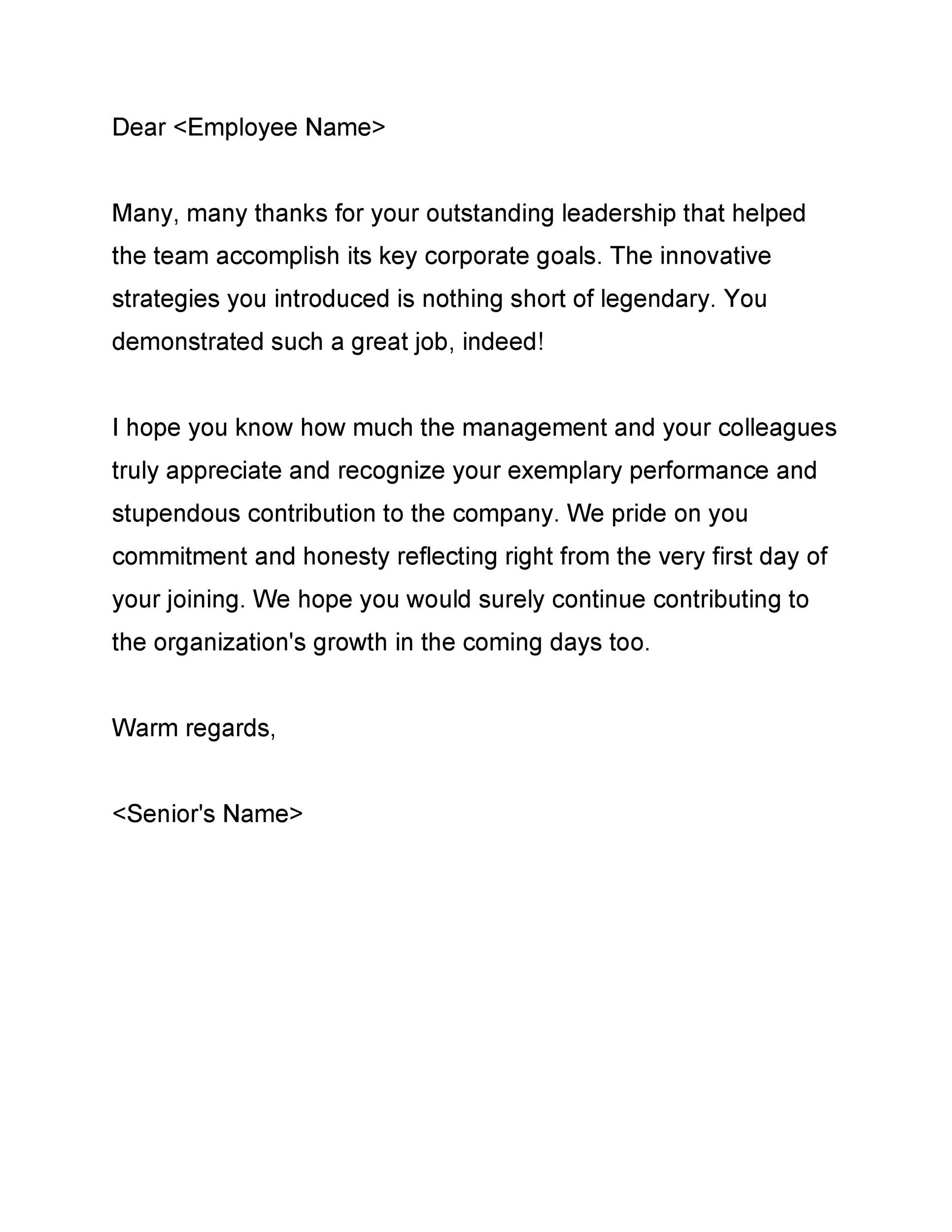 Free recognition letter 50