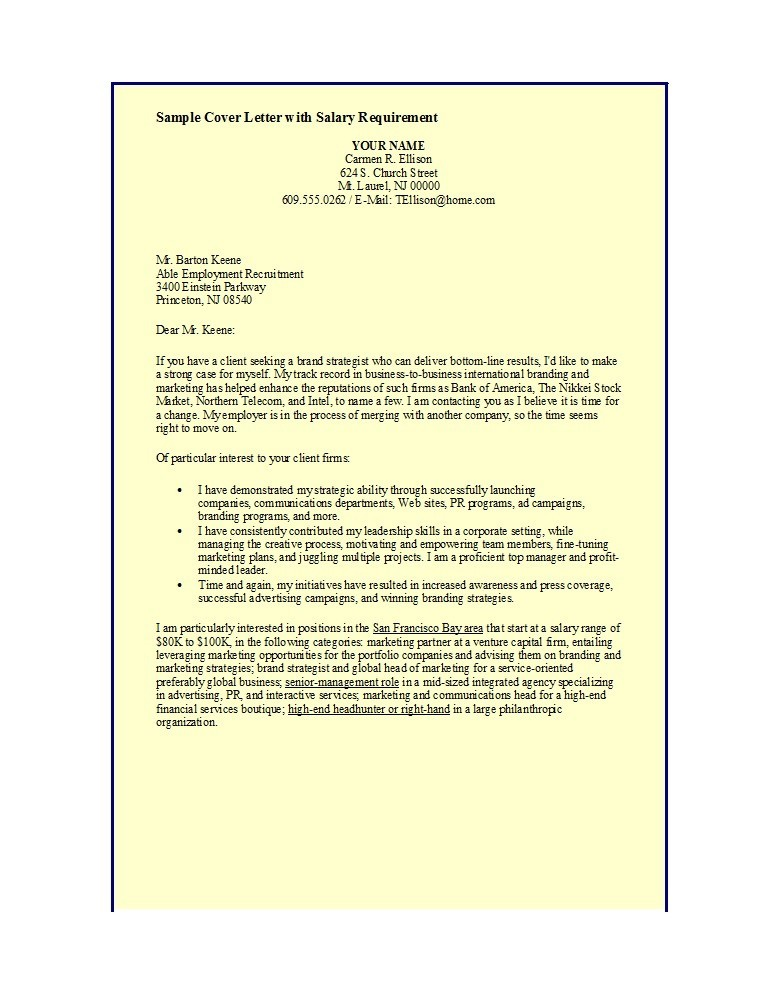 Free salary requirements cover letter 04
