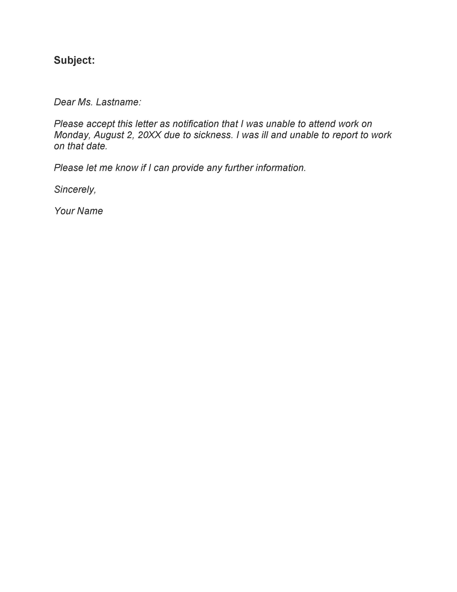 Free sick leave email 05