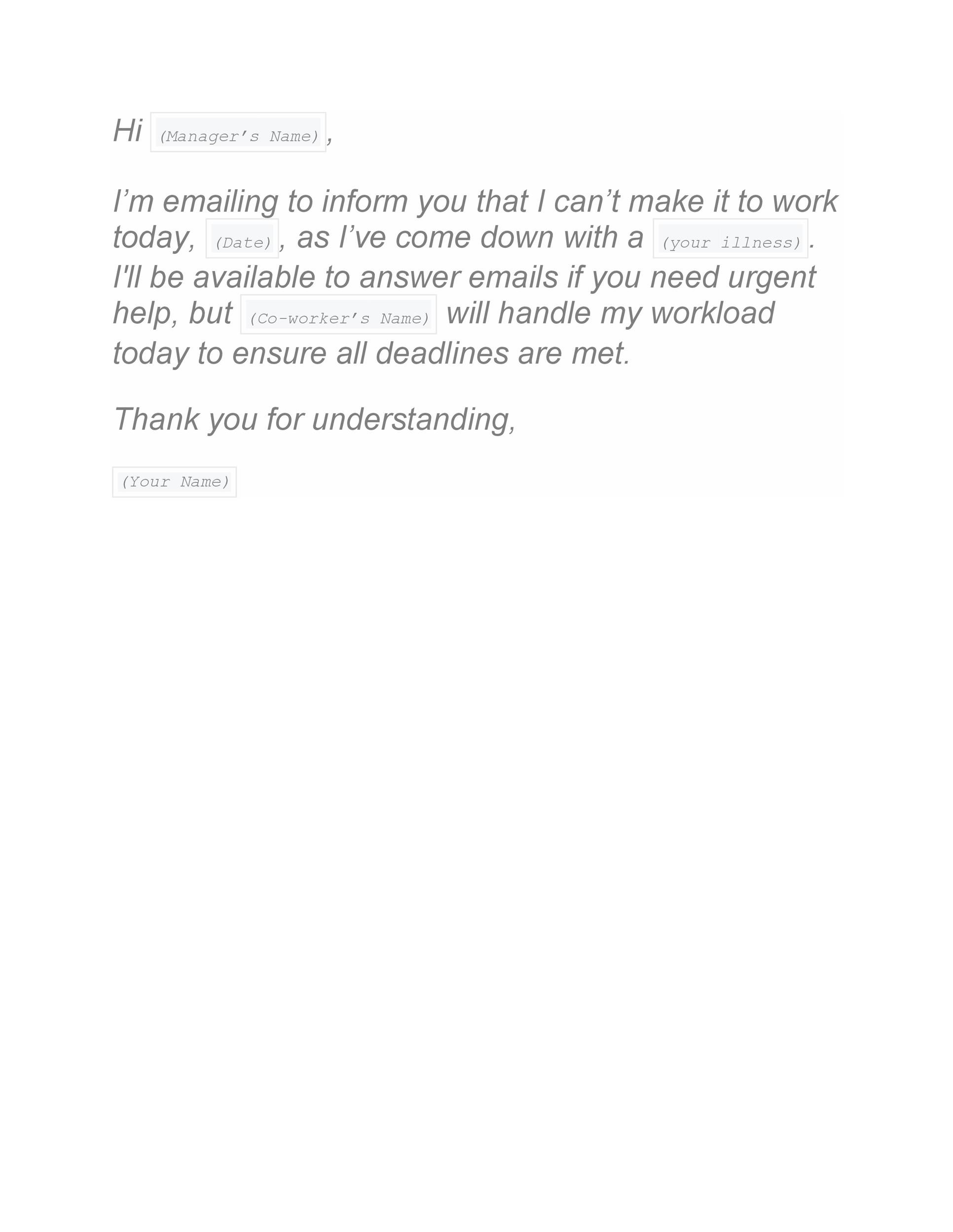 Free sick leave email 07