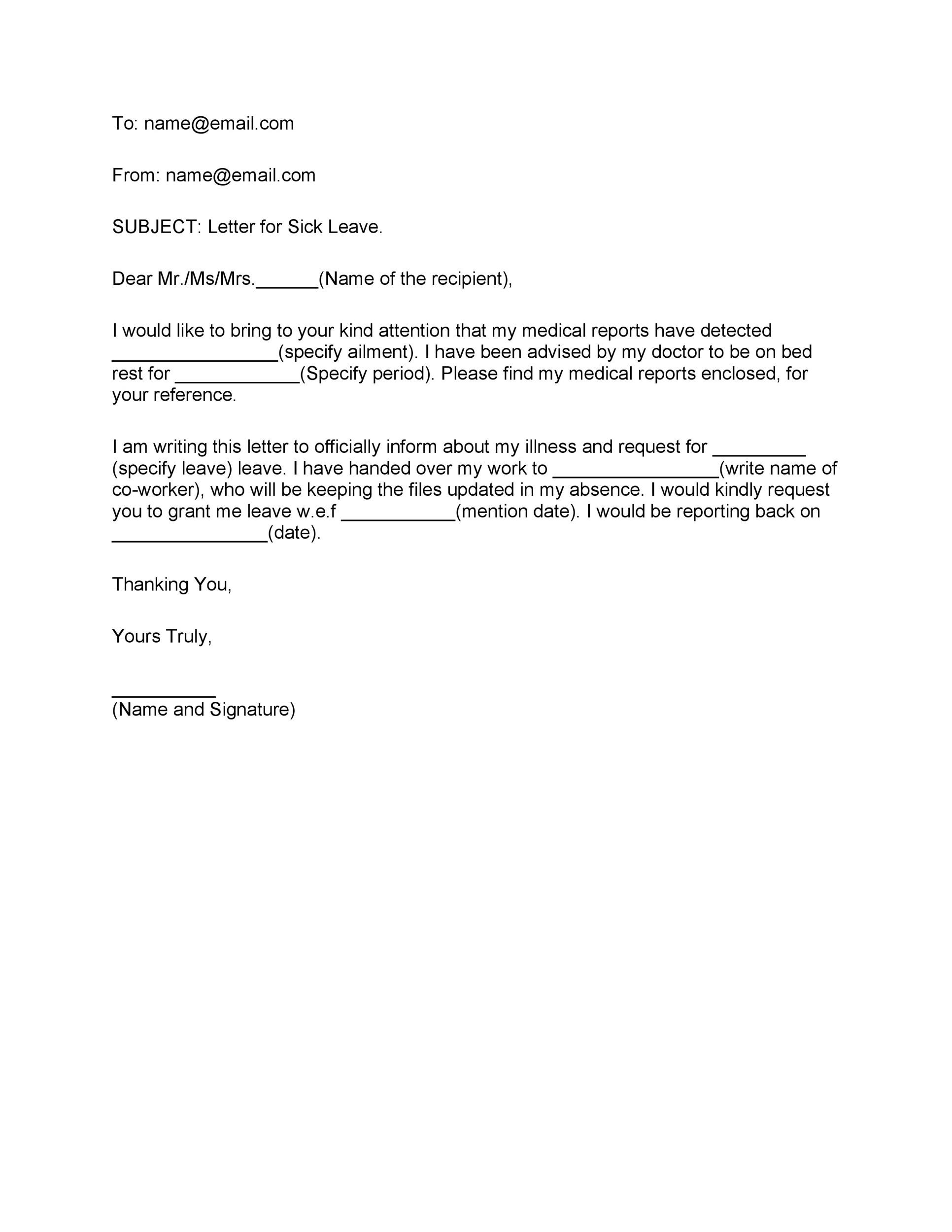 Free sick leave email 23