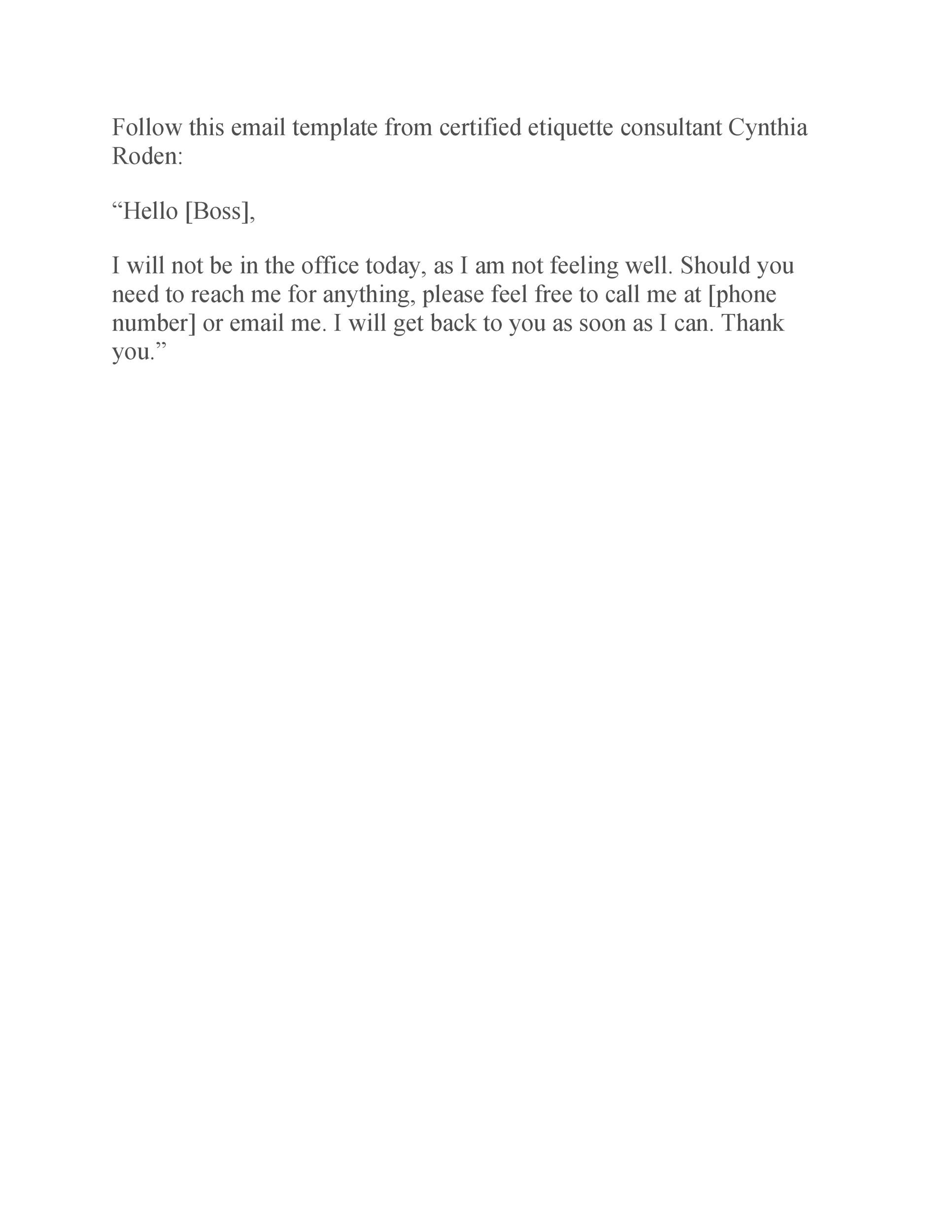 Free sick leave email 26