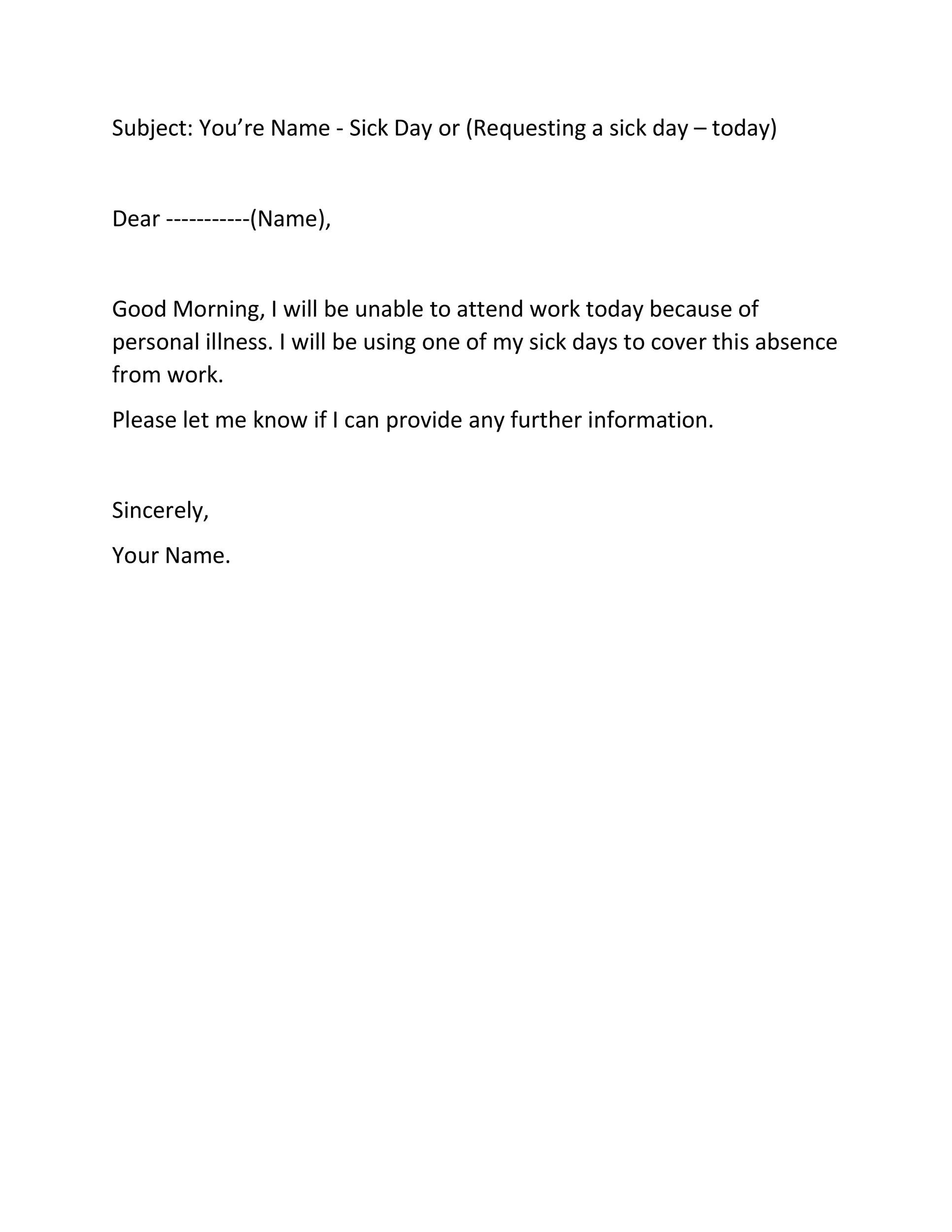 Free sick leave email 28
