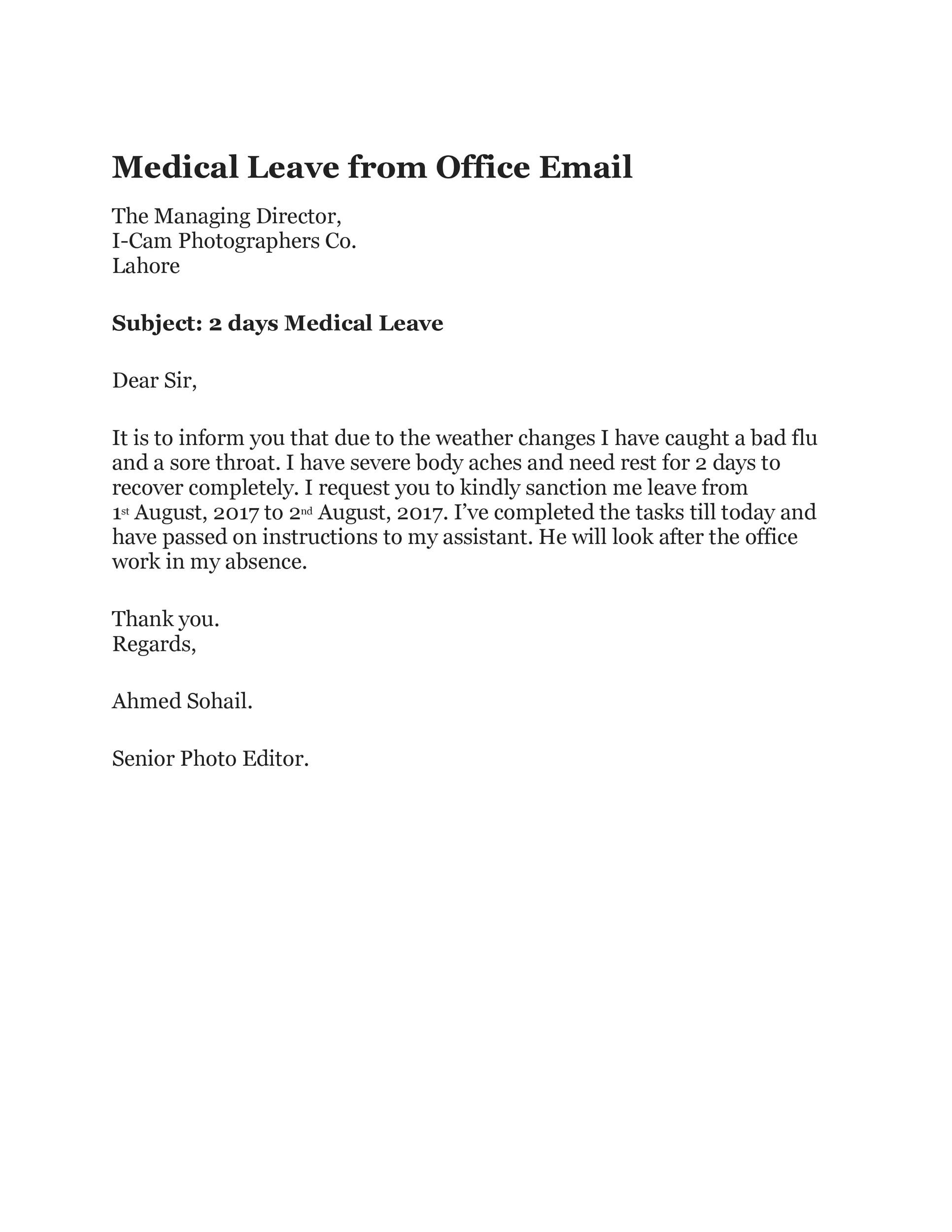 Free sick leave email 38